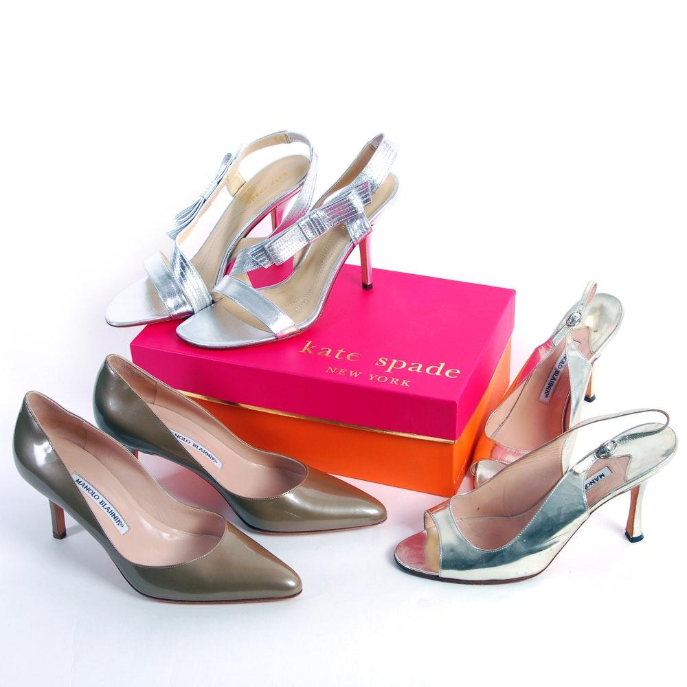 Manolo Blahnik and Kate Spade Heels