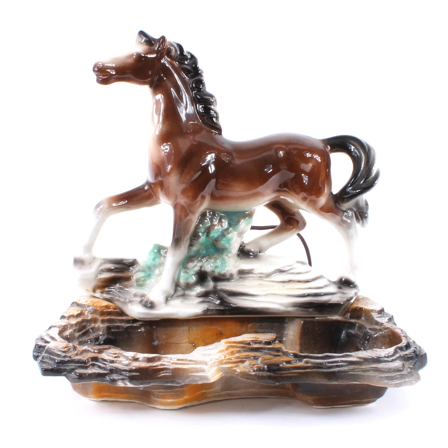 Mid Century Horse Ceramic TV Lamp by Lane & Co.