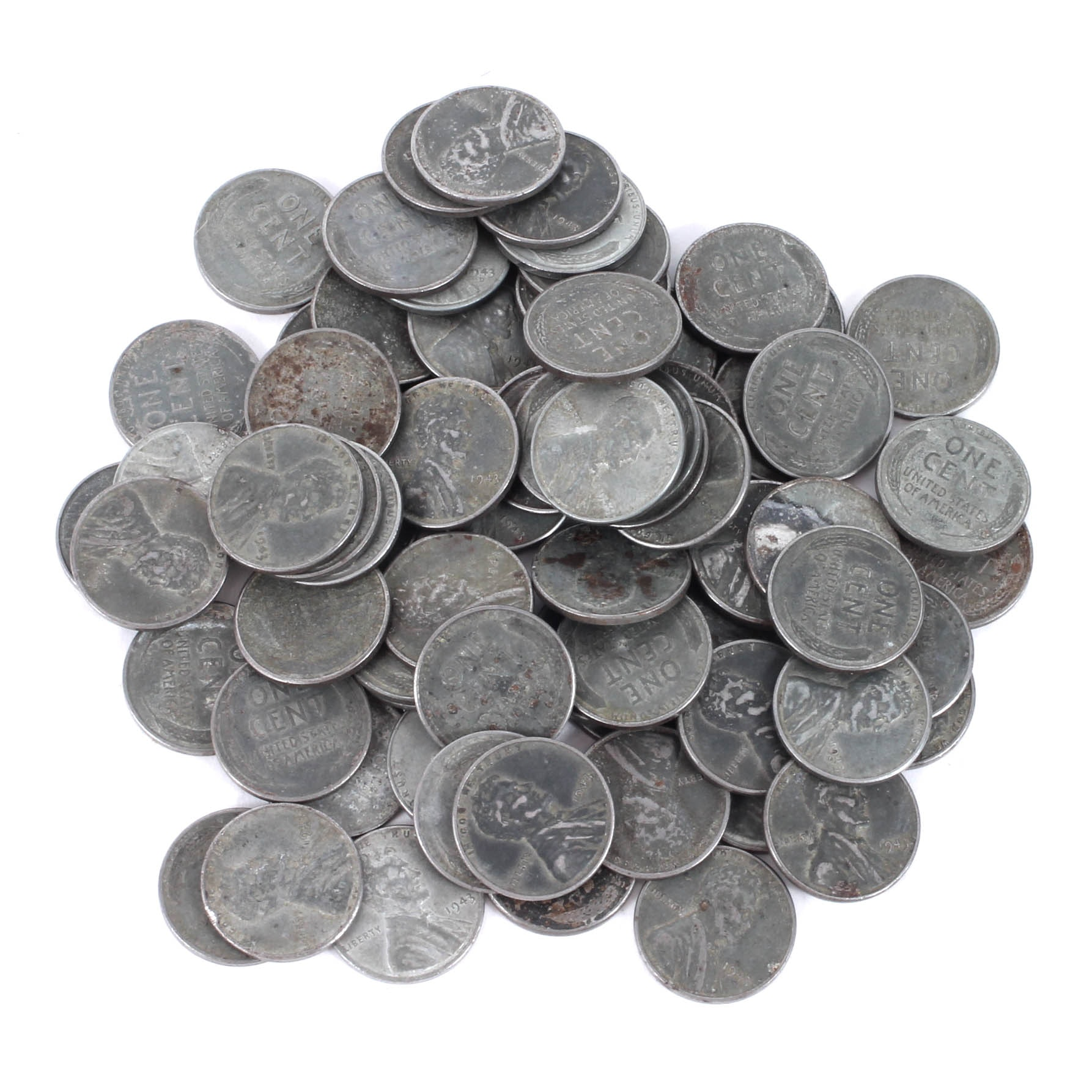 U.S. 1943 Steel Penny Collection