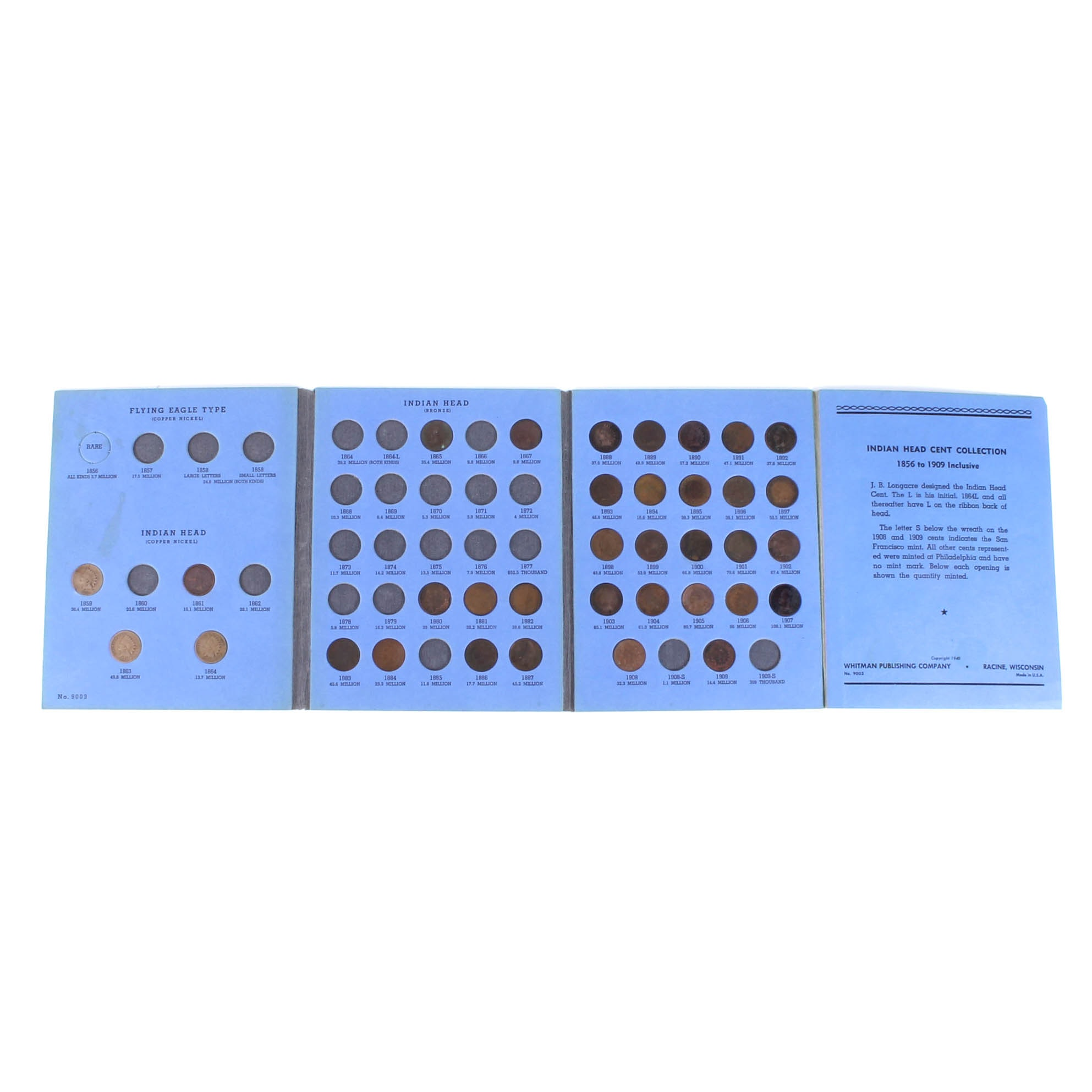 Indian Head Penny Collection in Whitman Folder