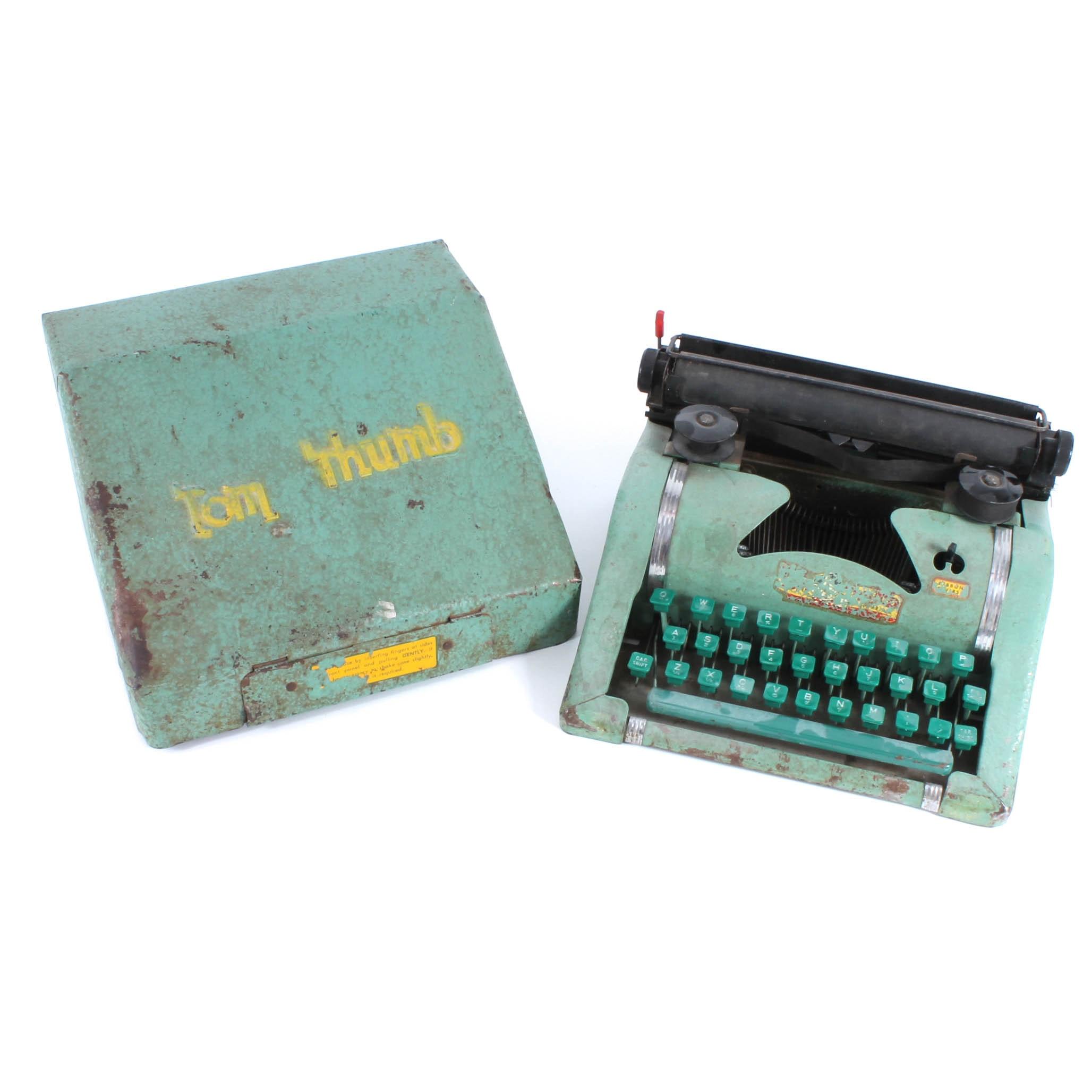 Vintage Tom Thumb Child's Typewriter