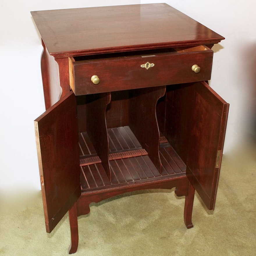 Vintage Record Storage Cabinet