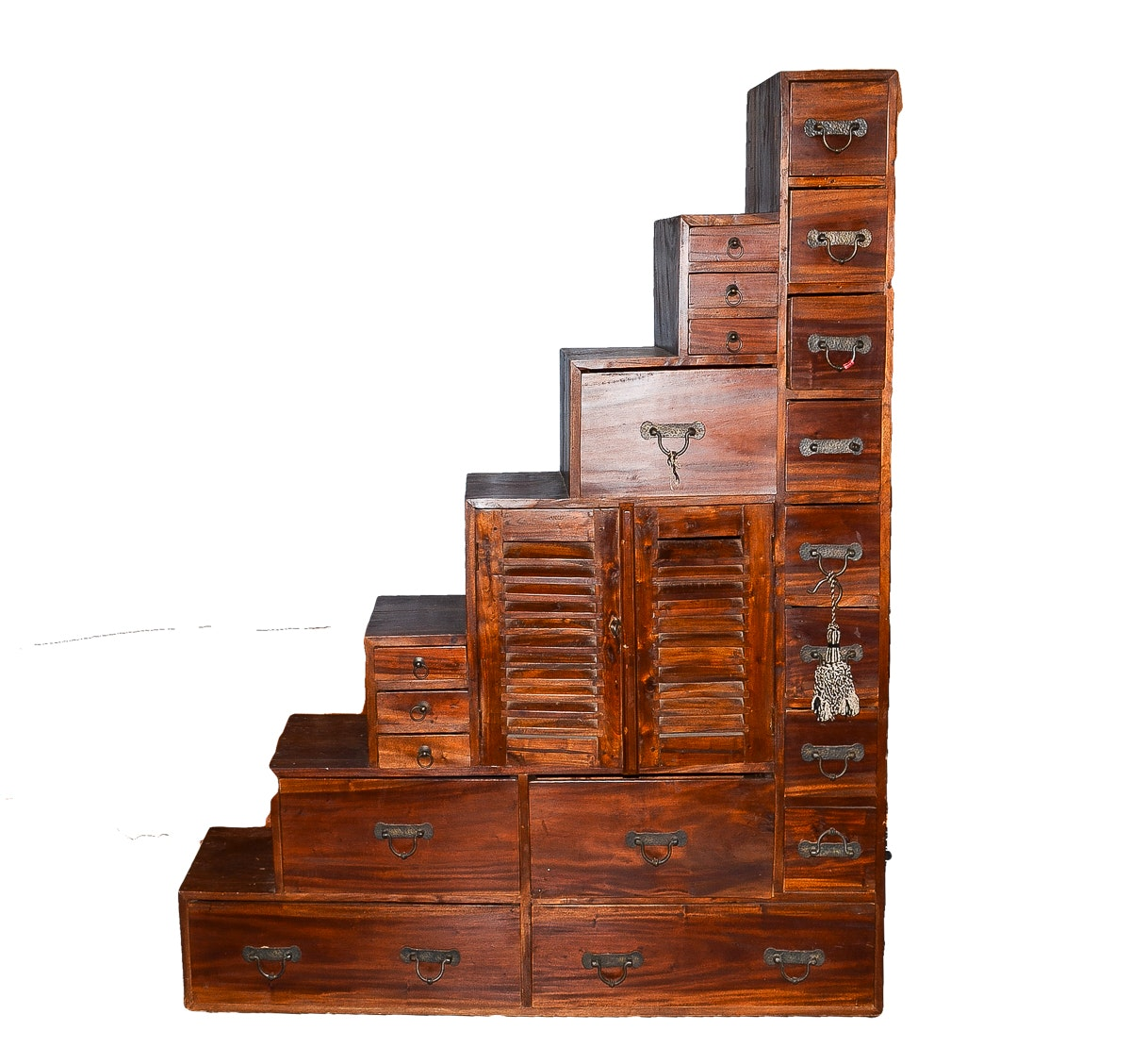 Japanese-Style Tansu Step Chest