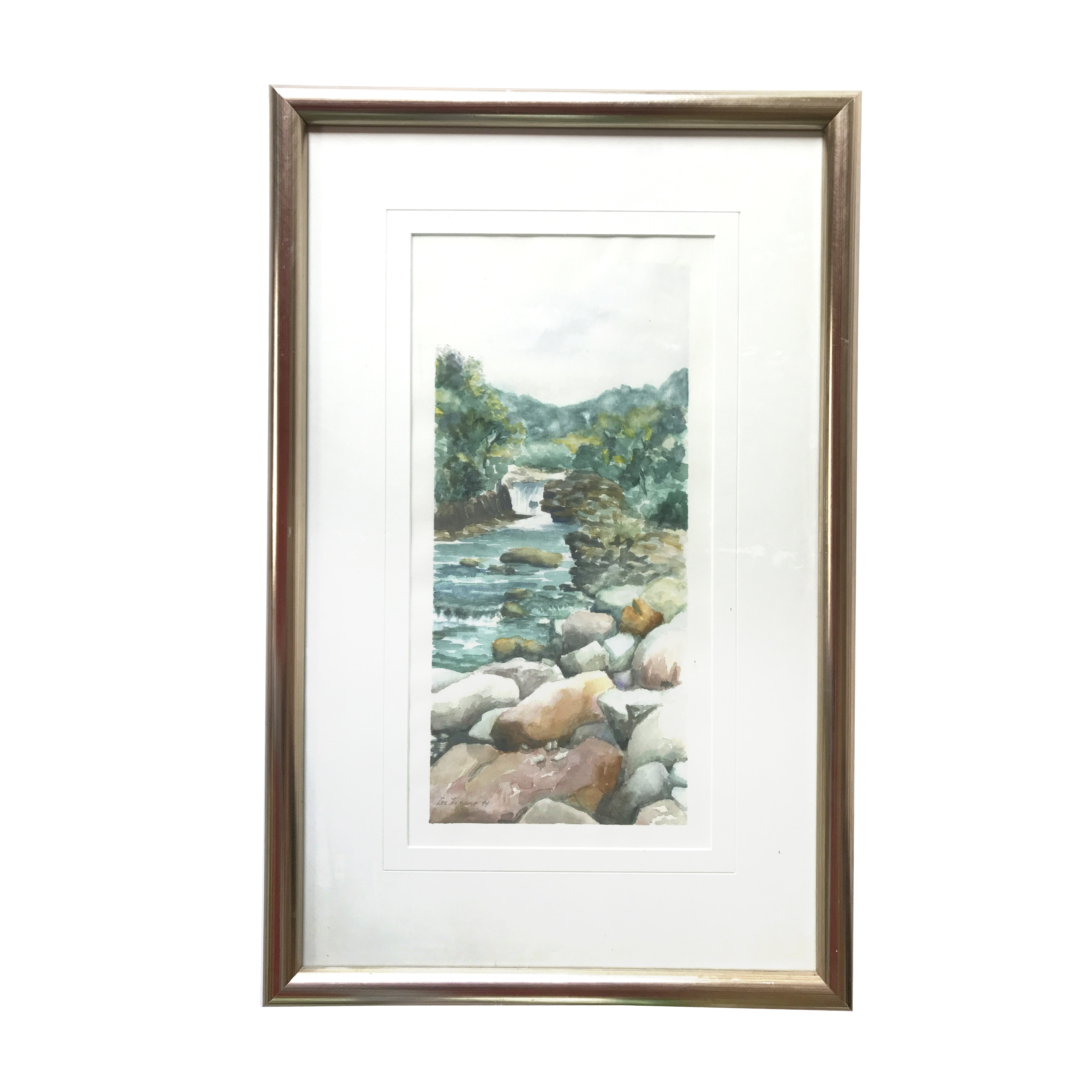 Lee Hirano Watercolor Painting of Stream
