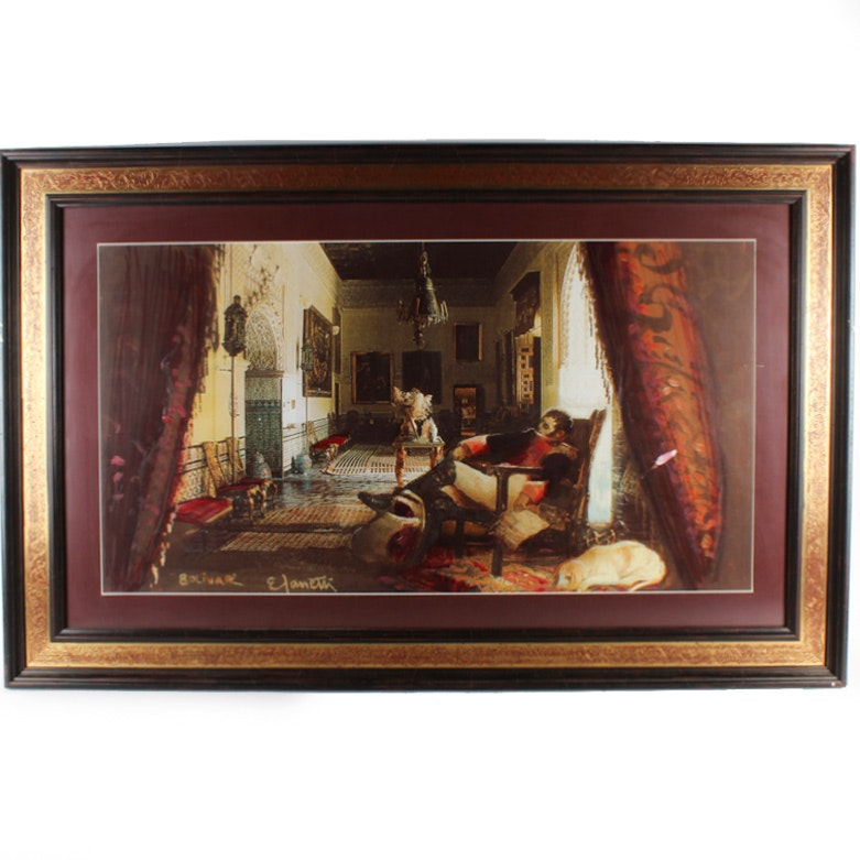 """After Eugenio Zanetti Offset Lithograph """"Bolivar"""""""
