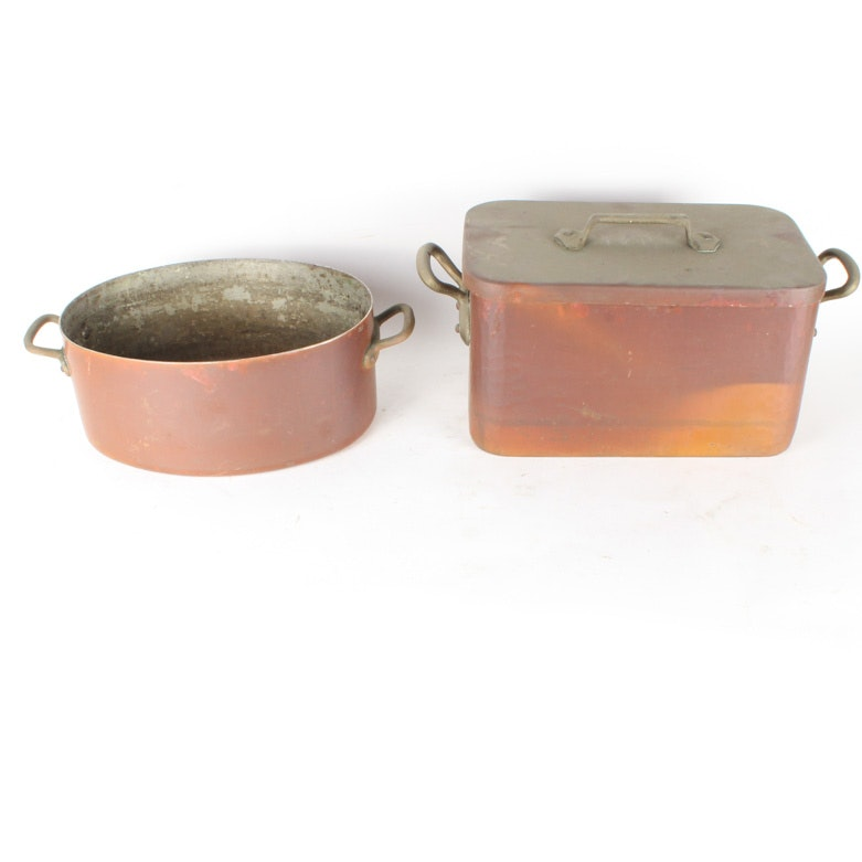 Two Copper Pots