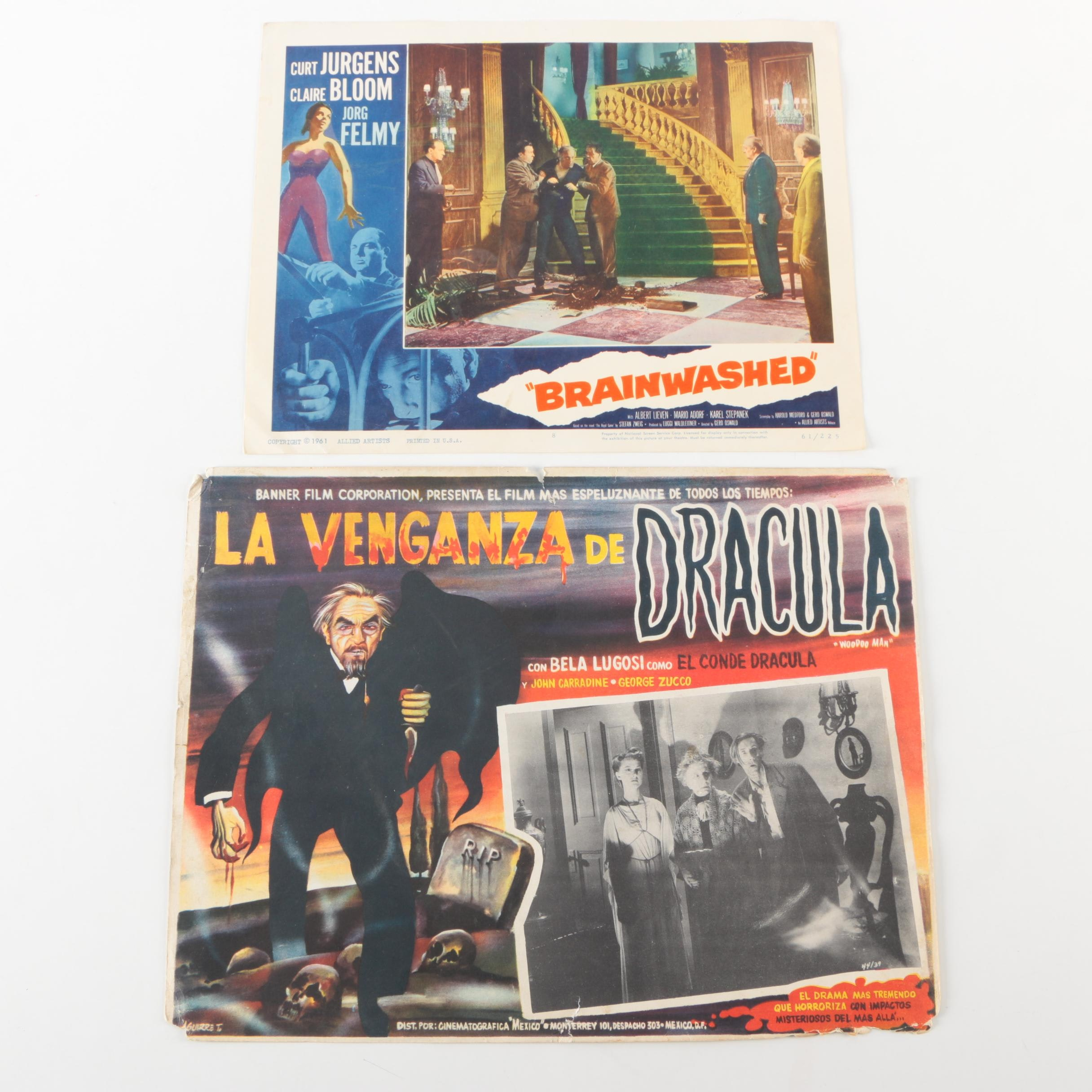 "Vintage Horror Movie Posters ""Brainwashed"" and ""La Venganza De Dracula"""