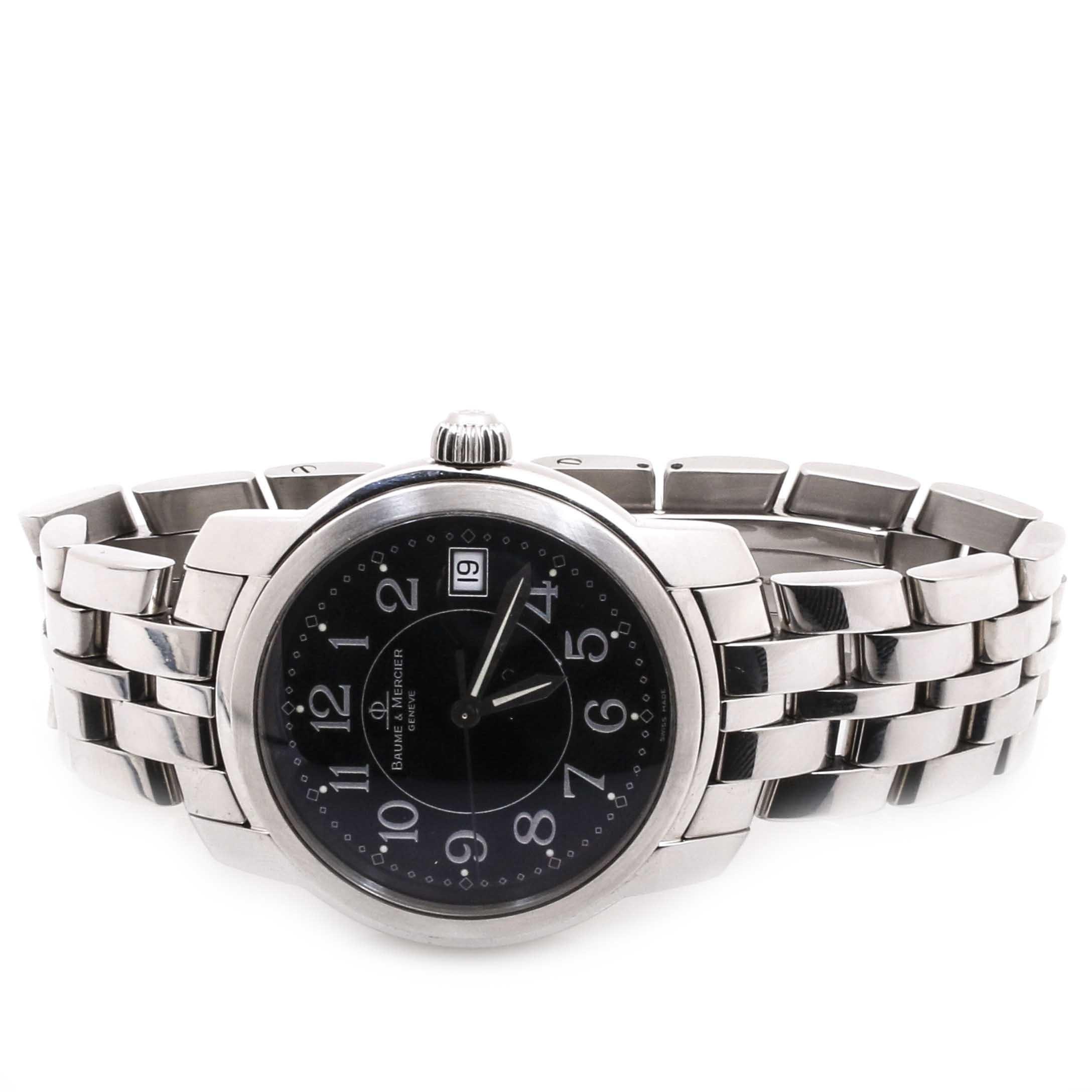 Stainless Steel Baume & Mercier Geneve Wristwatch