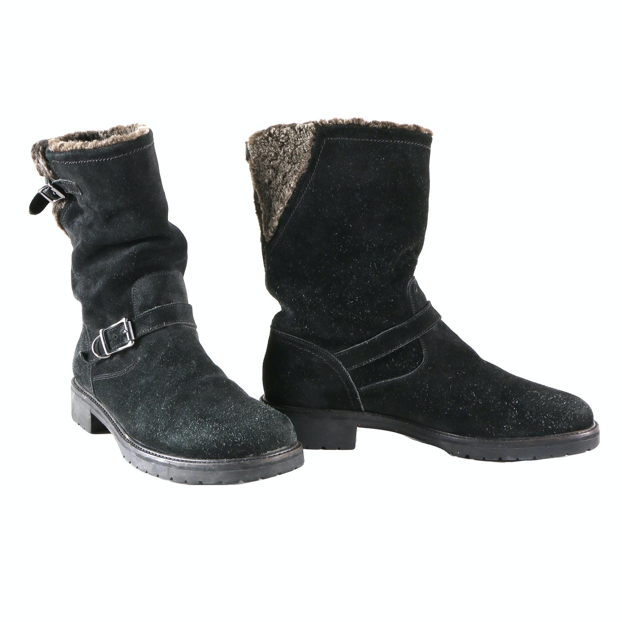 cole haan black suede boots ebth