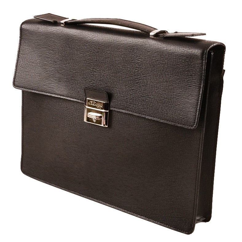 S.T. Dupont Line D Leather Briefcase, Made in Italy