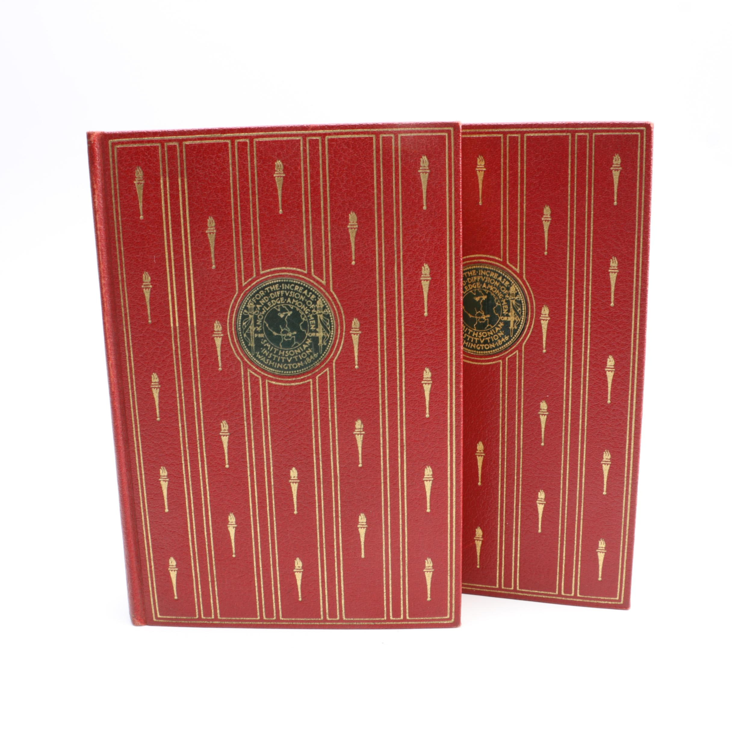 """Two Volumes of 1934 """"The Smithsonian Scientific Series"""""""