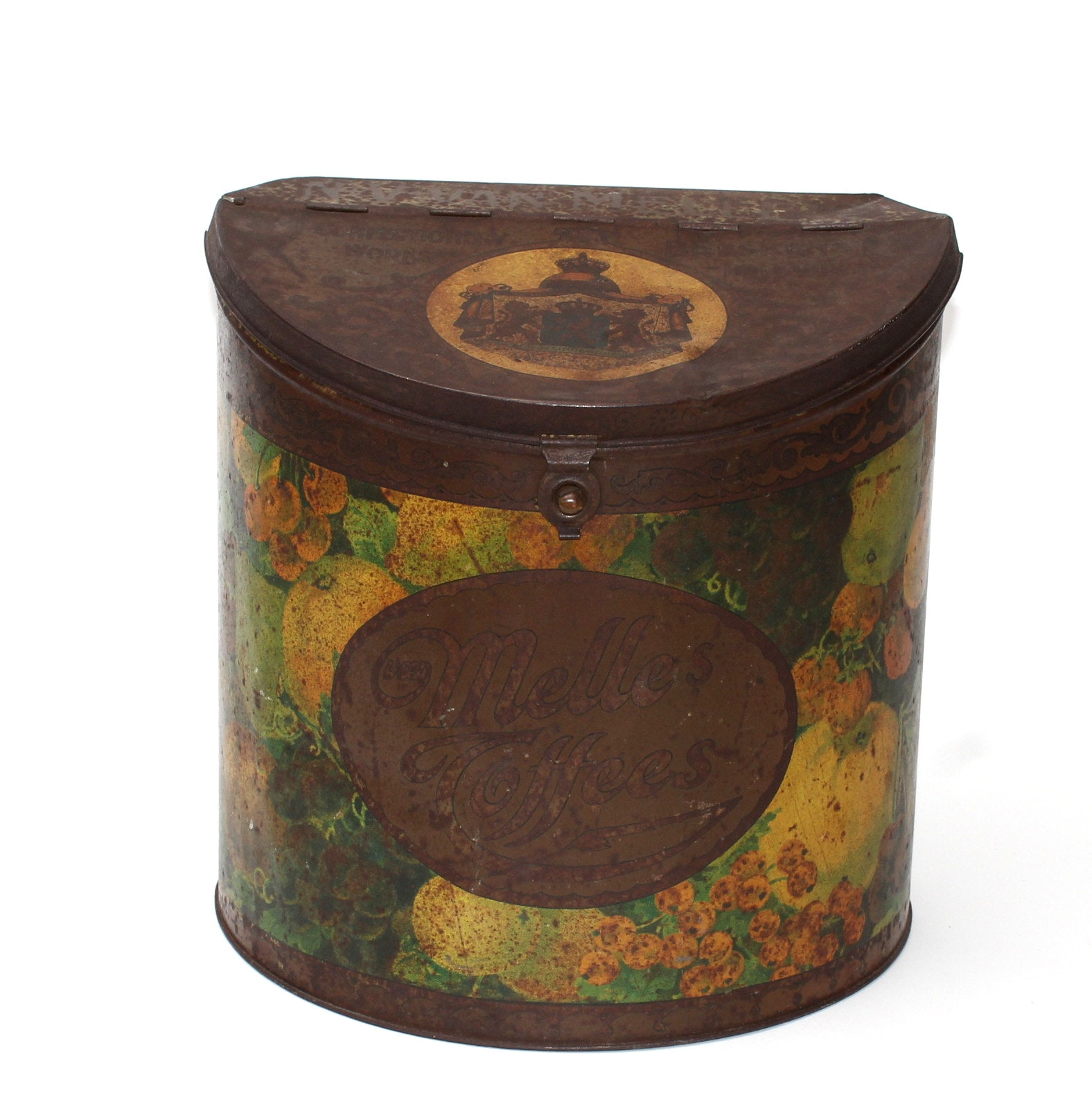 Antique Hand-Painted Van Melle's Toffee Tin