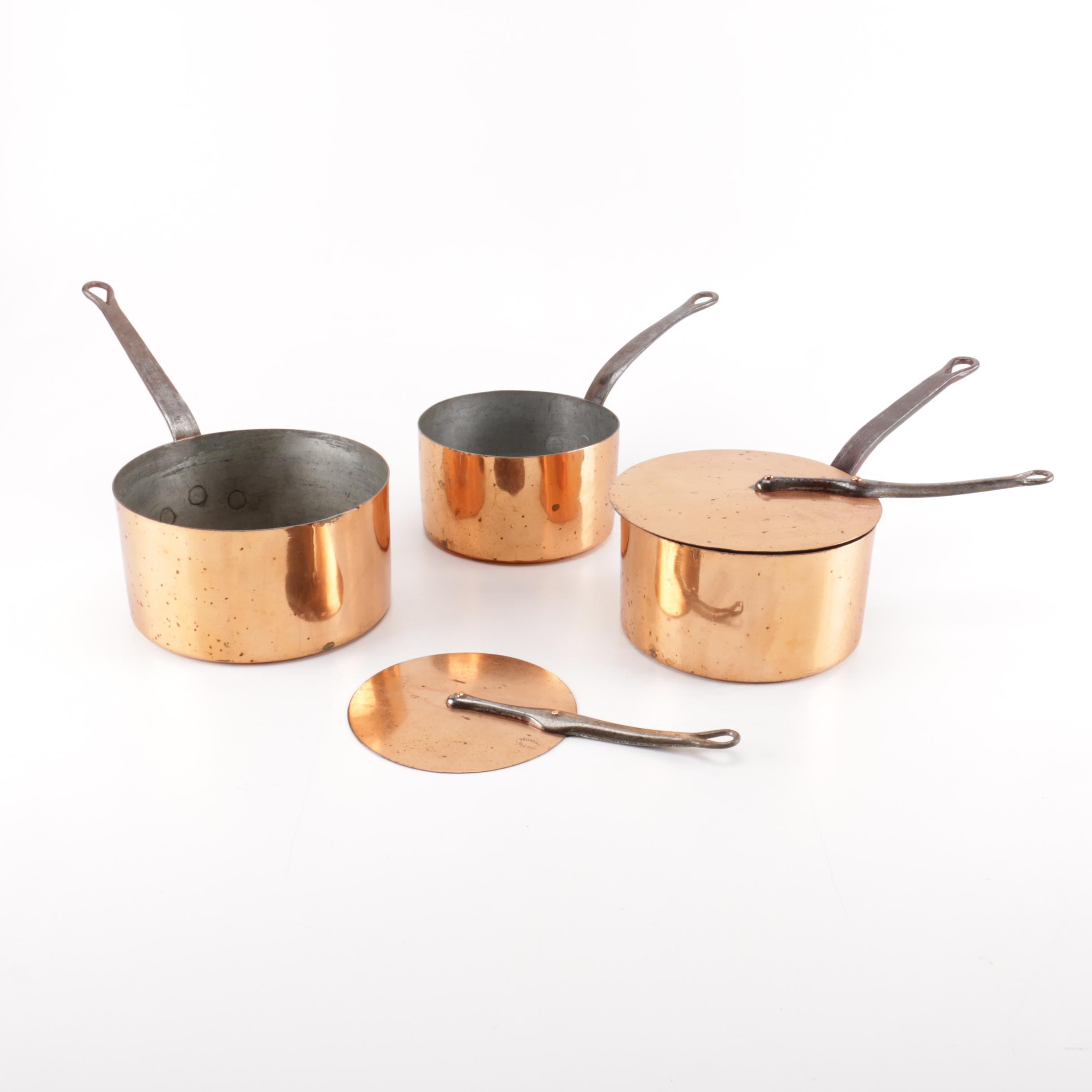 Philbert Copper Cooking Pots