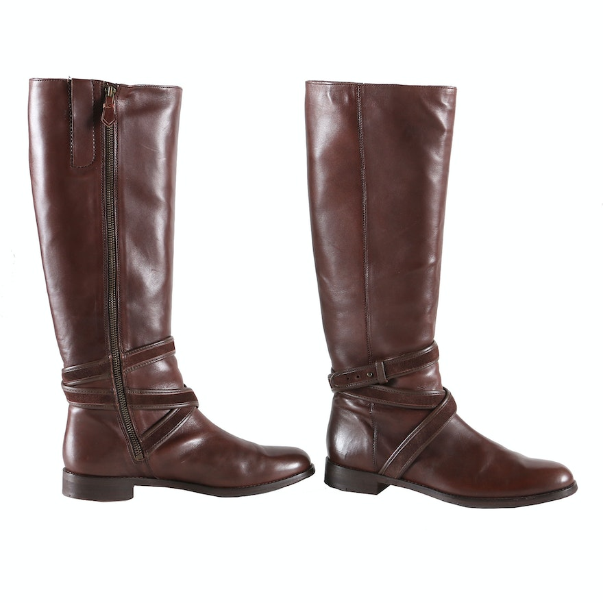e2c435f9ec0 Cole Haan Braelyn Chestnut Leather Boots   EBTH