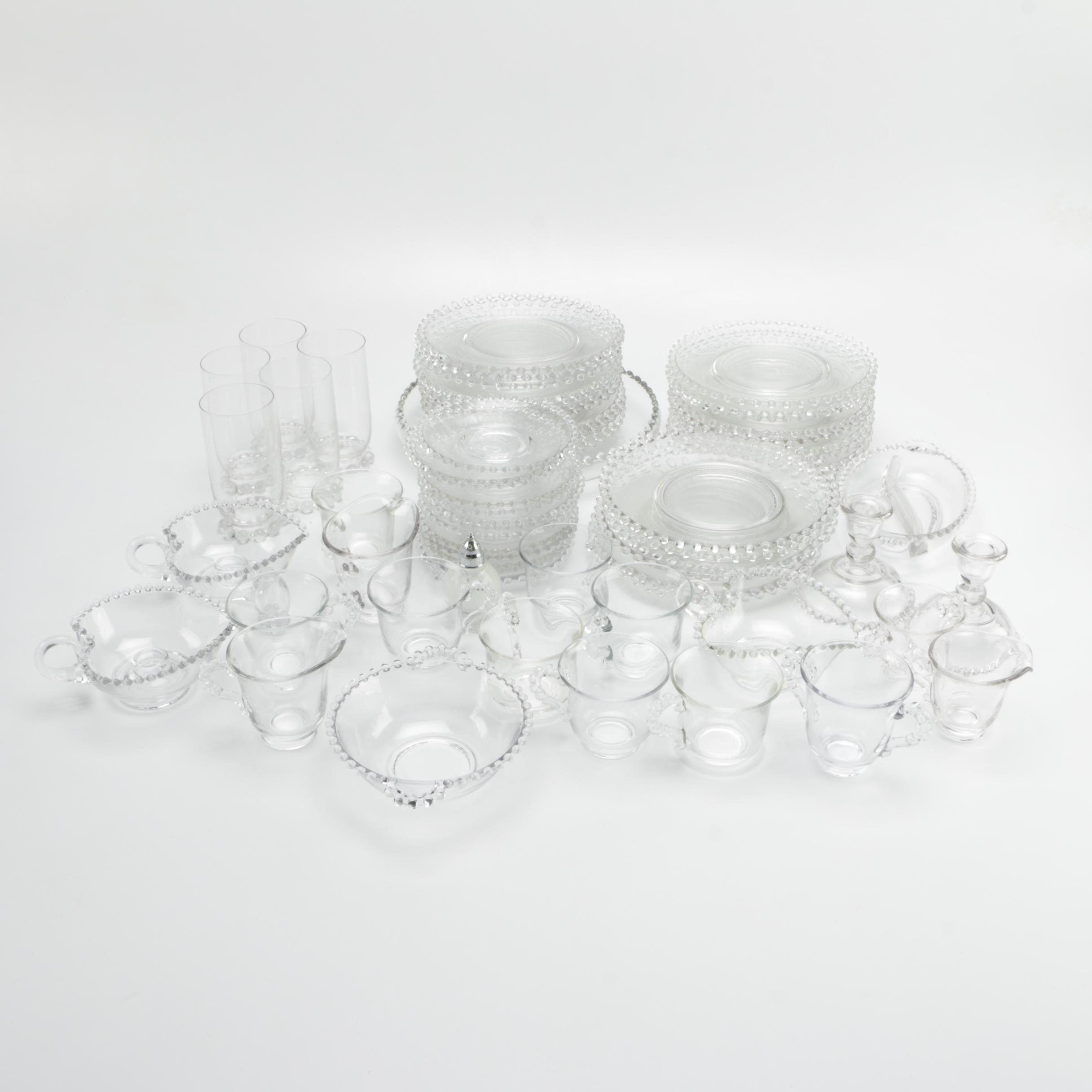 "Vintage Imperial Glass ""Candlewick"" Dinner Set"