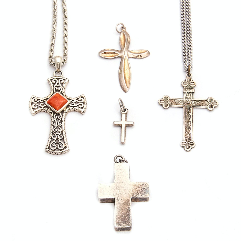 Sterling Silver Cross-Themed Jewelry