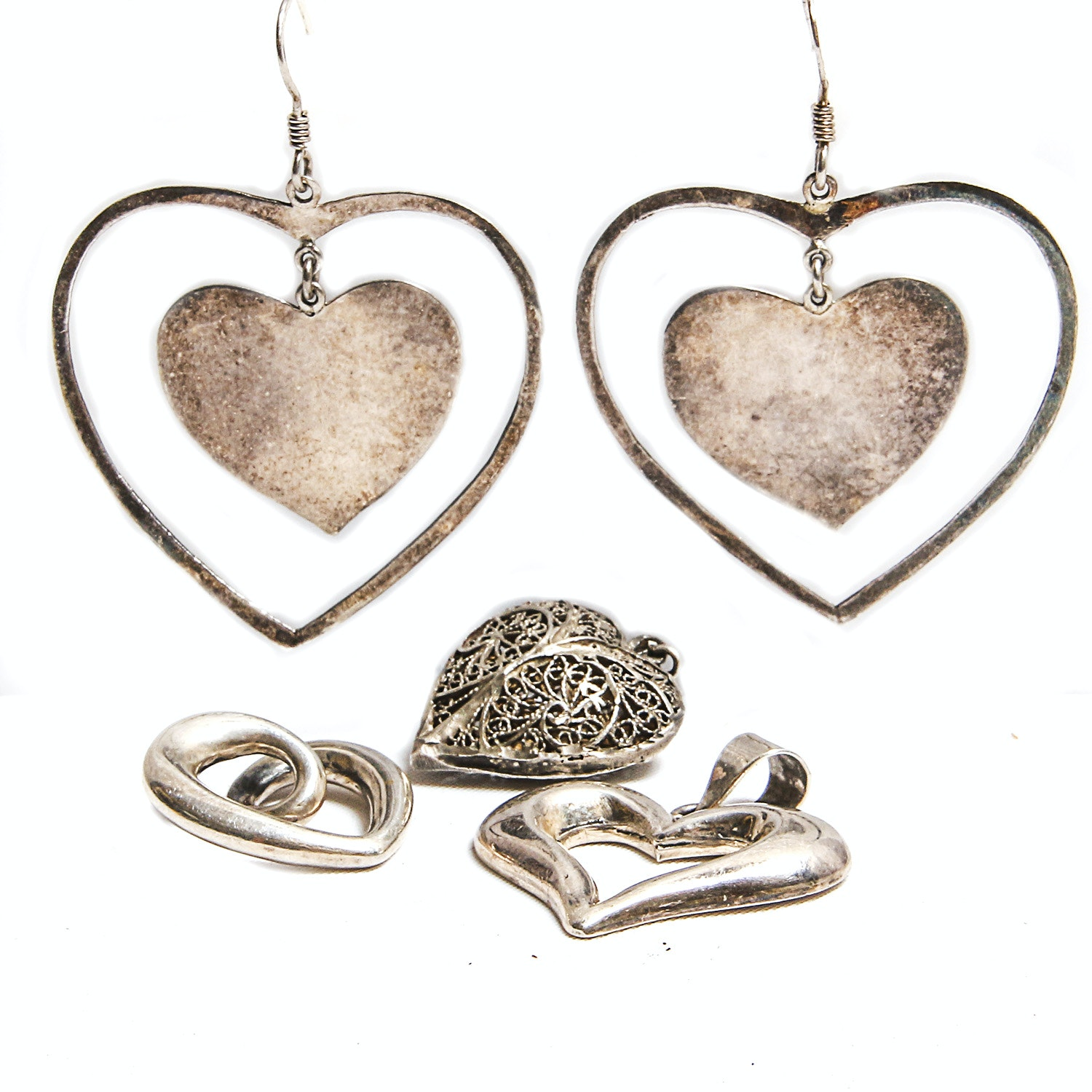 Sterling Silver Heart-Themed Jewelry including James Avery