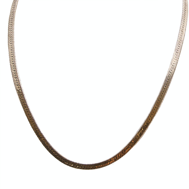 18K Yellow Gold Herringbone Chain
