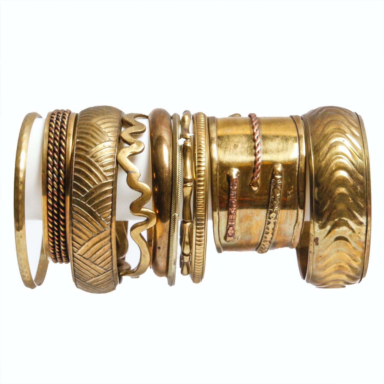 Brass-Tone Bracelet Assortment
