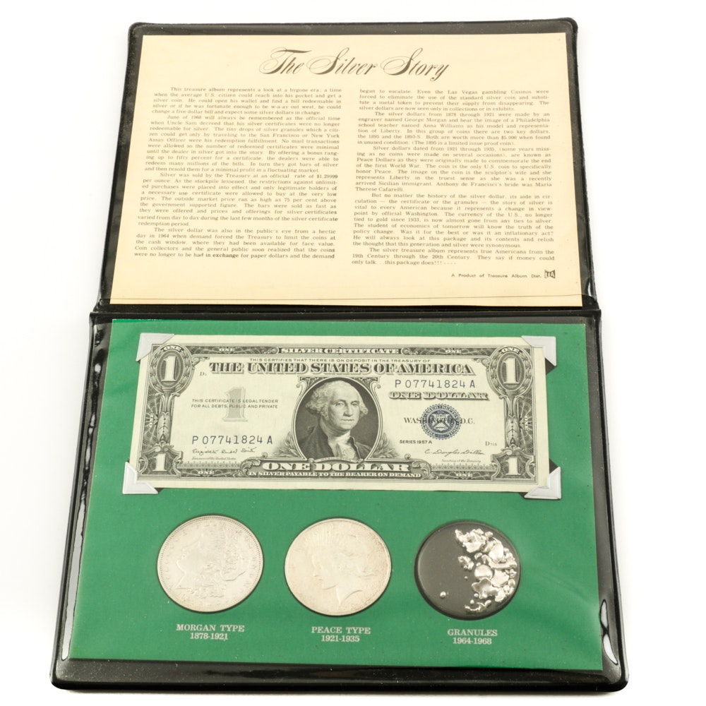 """""""The Silver Story"""" Coin and Currency Set"""