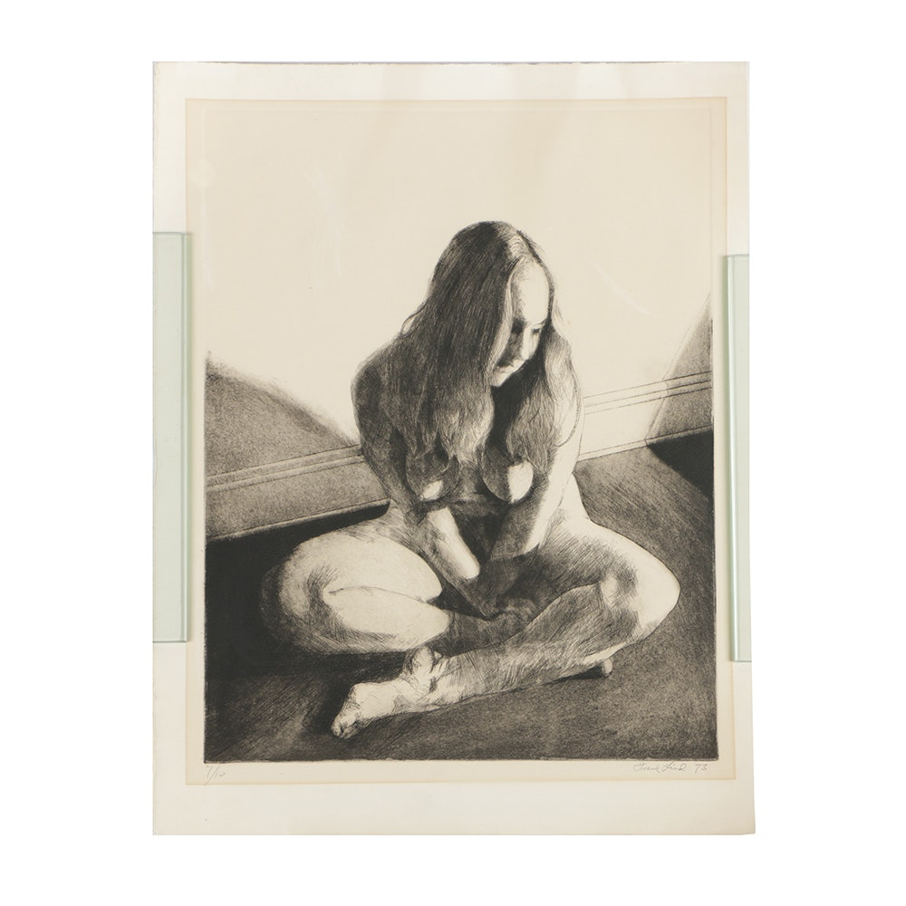 Frank Lind Limited Edition Etching on Paper Nude Figure