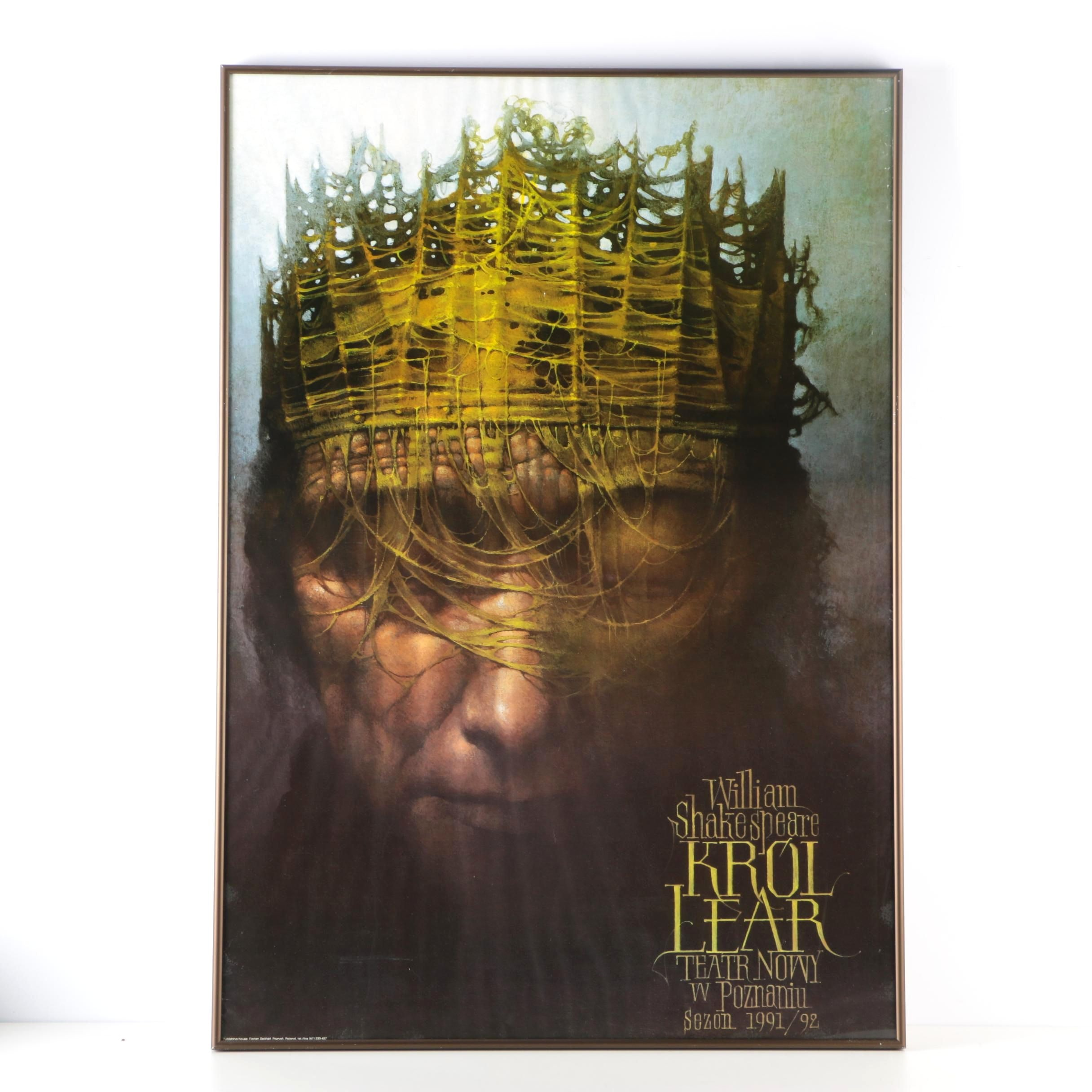"Framed Polish Language ""King Lear"" Poster"