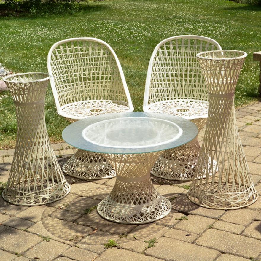 Vintage Russel Woodward Spun Fibergl Patio Furniture Set