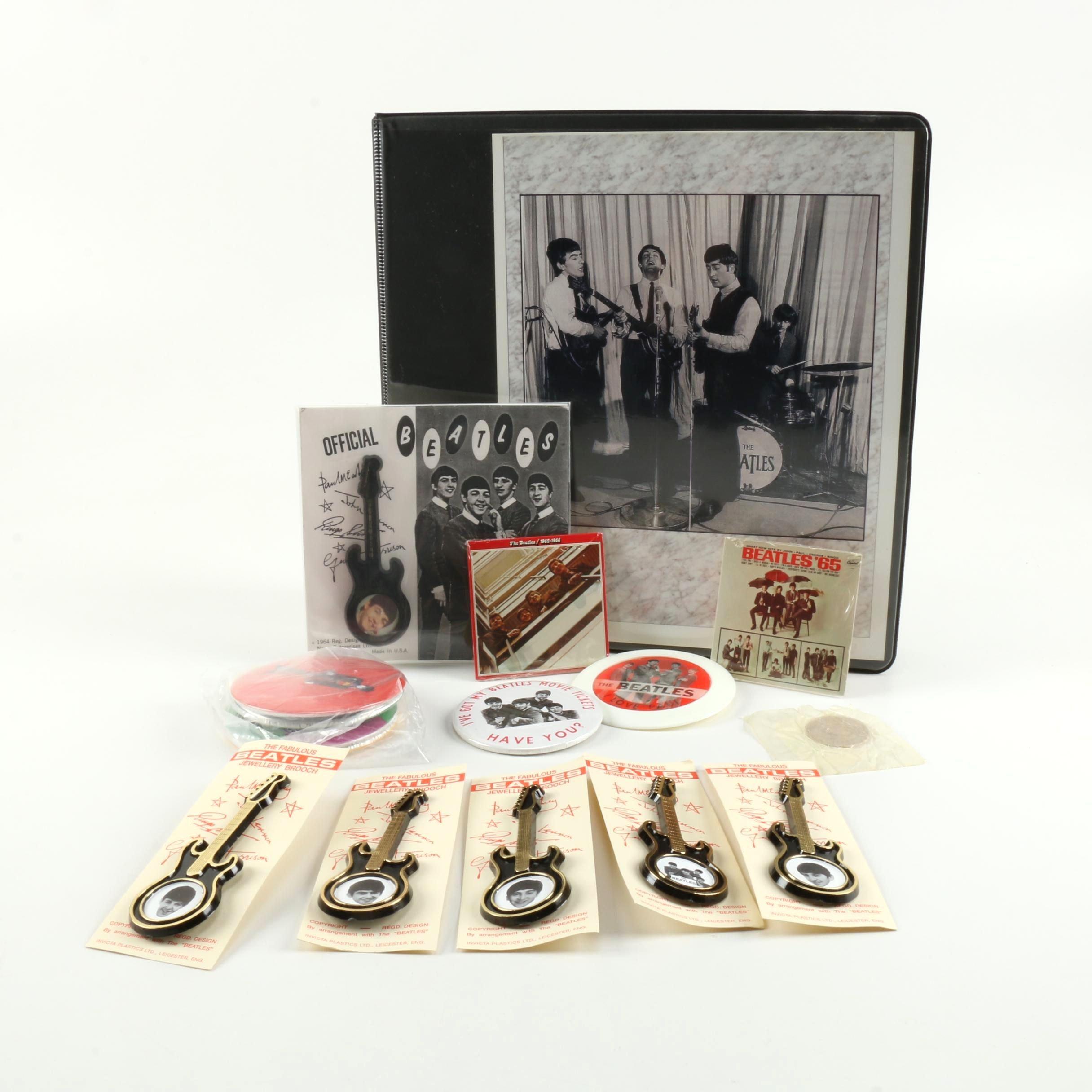 """Beatles Collectibles Including 1980s Chu-Bops Bubble Gum """"Miniature Albums"""""""