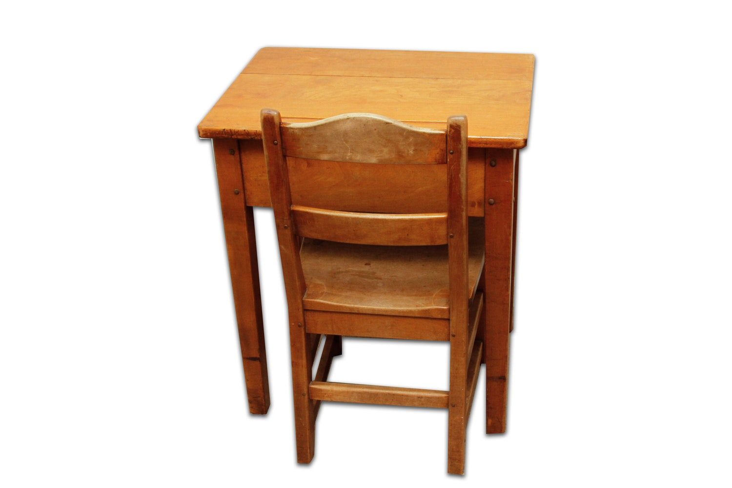 Vintage Wooden Child's Desk and Chair by Stickley