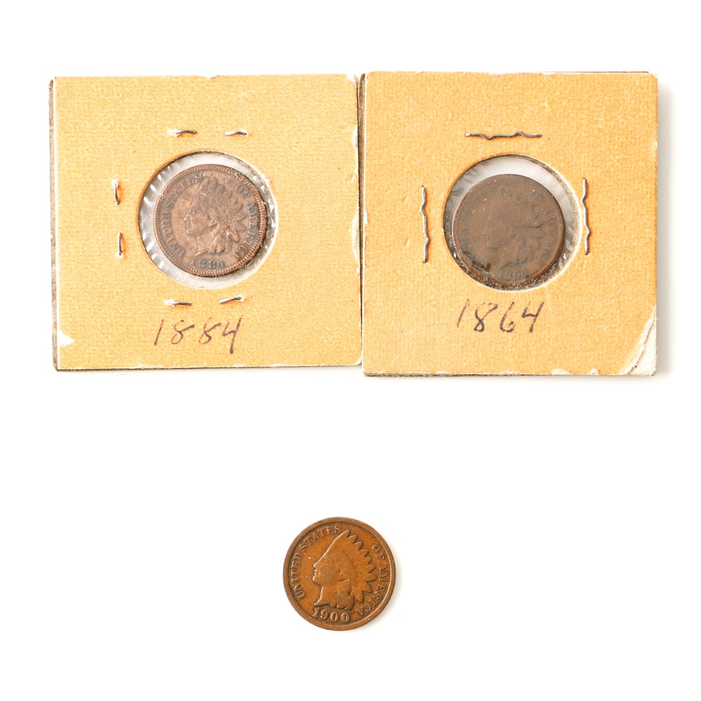 Three Indian Head Cents