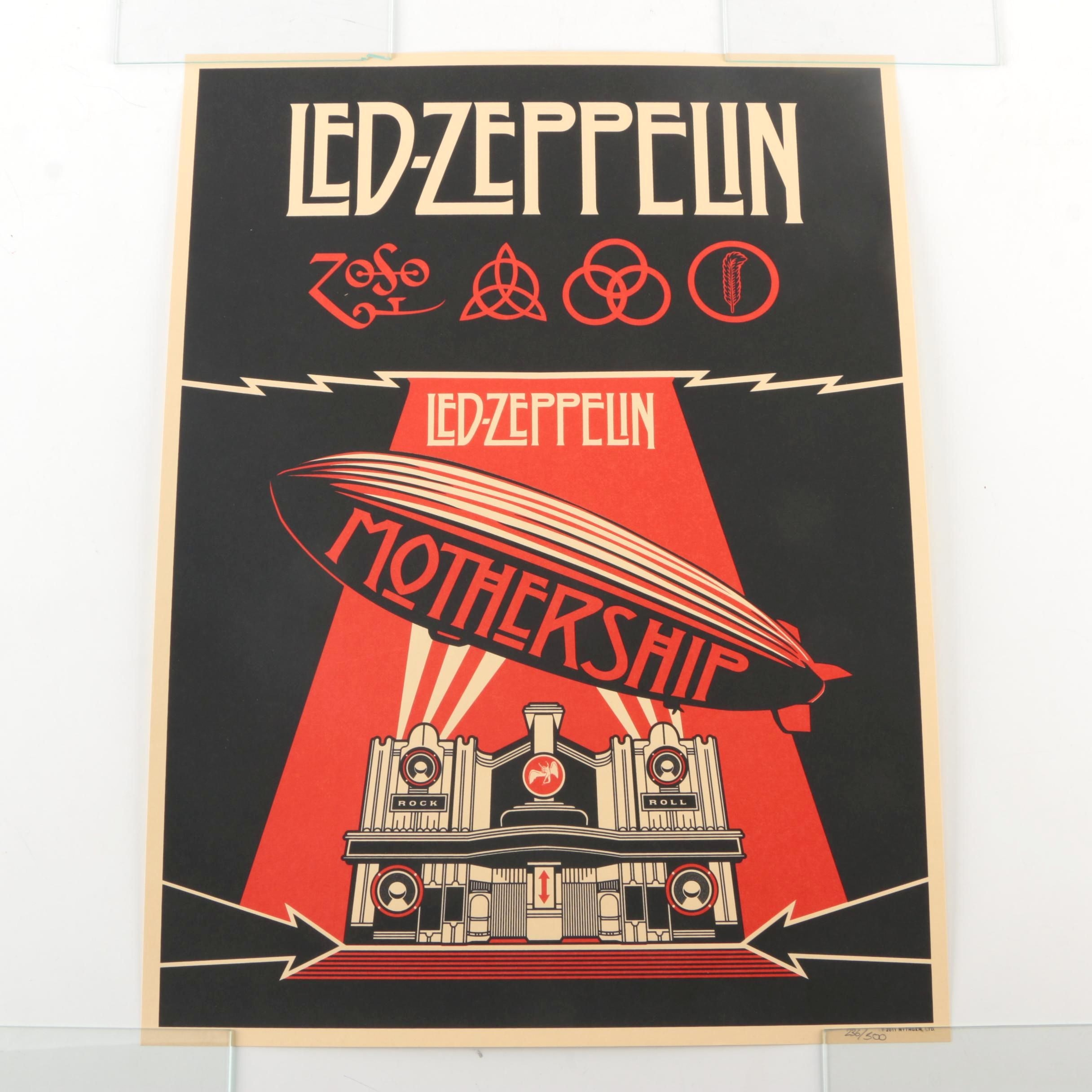 "Limited Edition Lithograph ""Led Zeppelin - Mothership"""