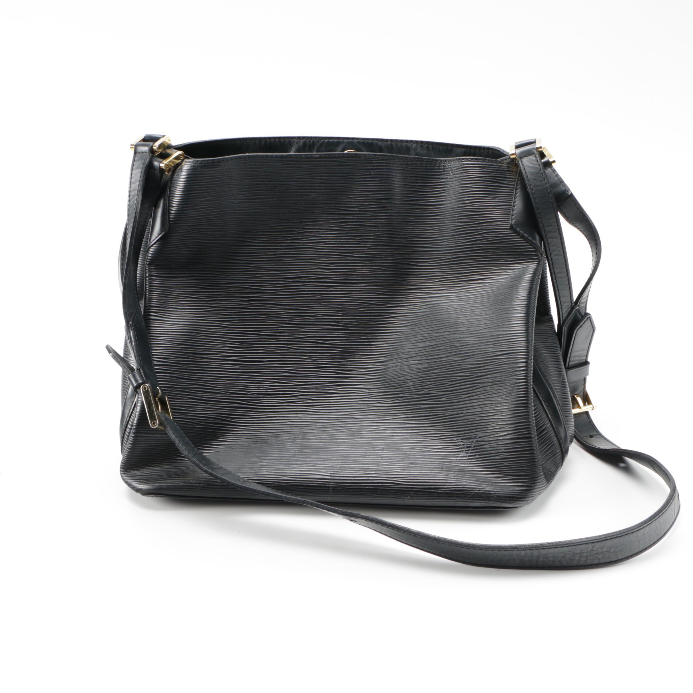 Louis Vuitton Mandara Black Epi Leather Handbag