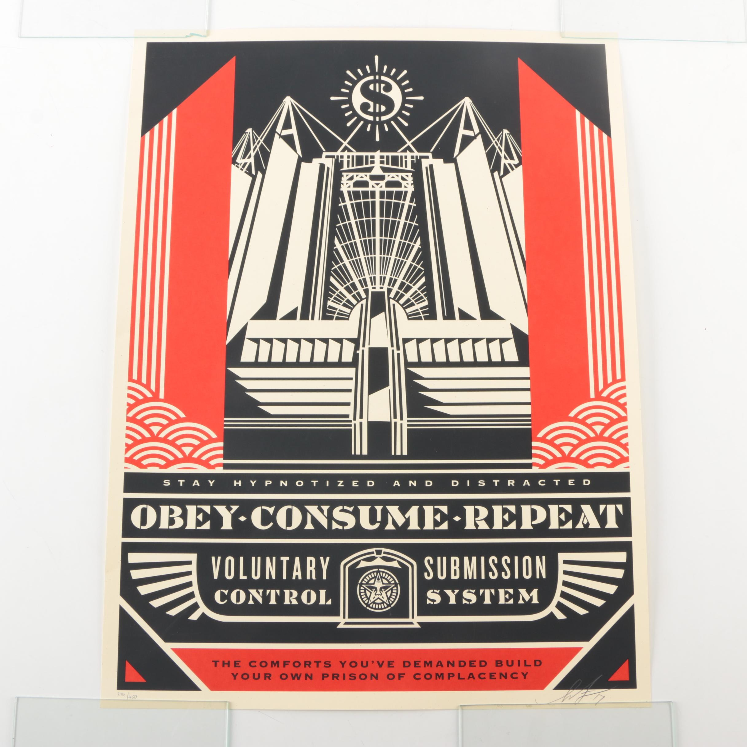 "Shepard Fairey Limited Edition Serigraph on Paper ""Church of Consumption"""