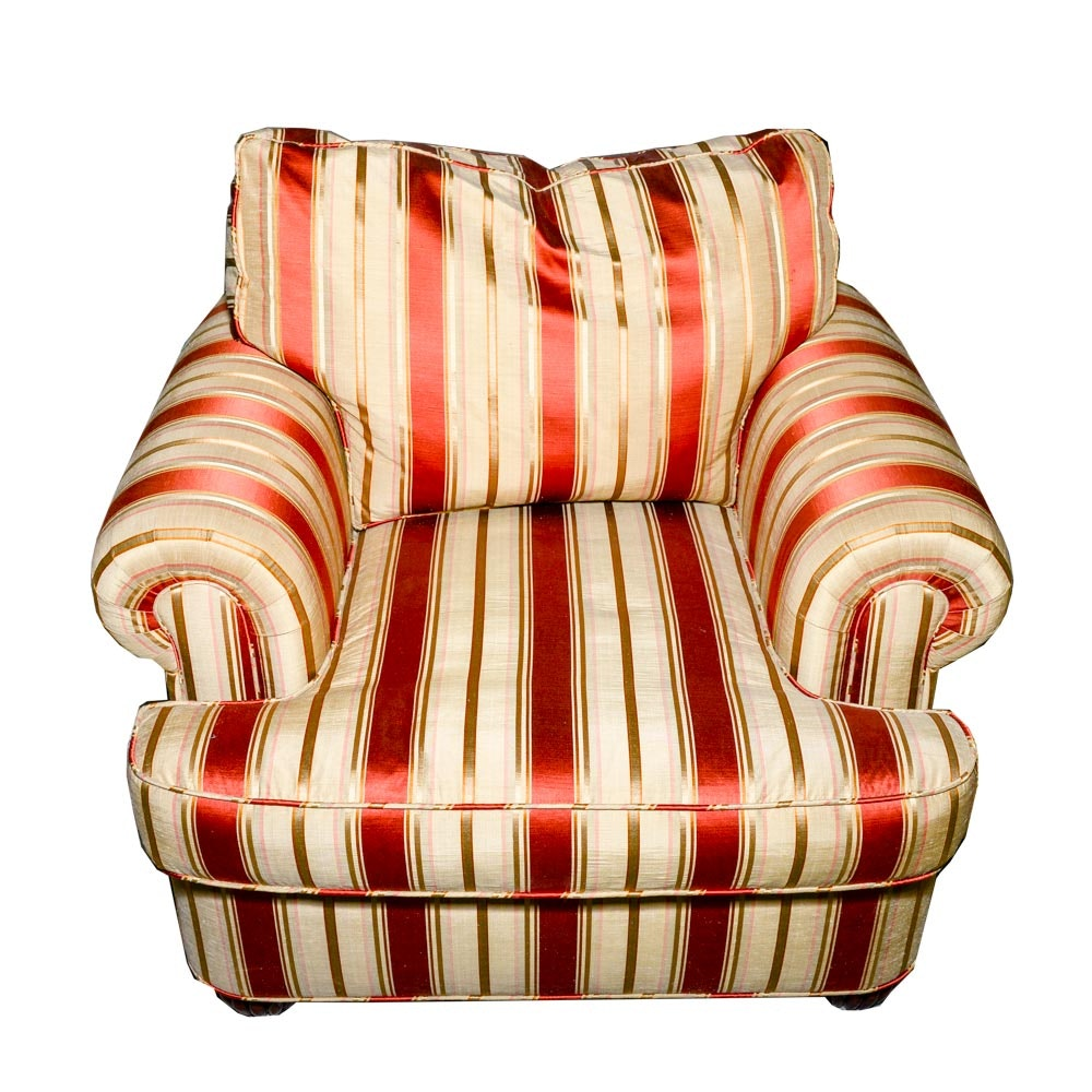 Striped Oversize Armchair