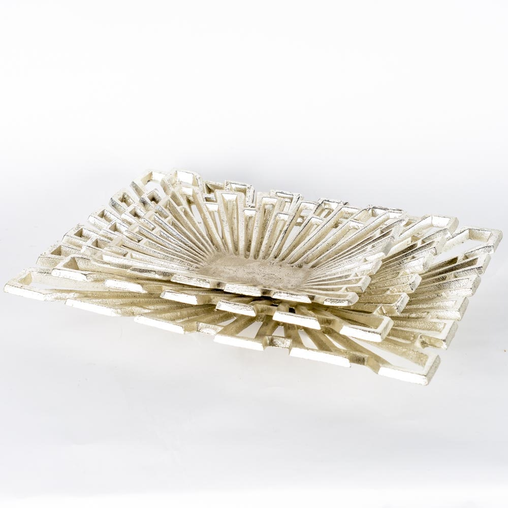 Collection of Silver Tone Decorative Trays