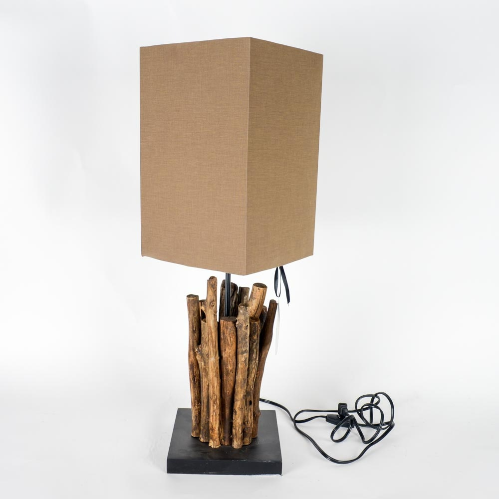 Twig Table Lamp With Square Shade By Light And Living ...