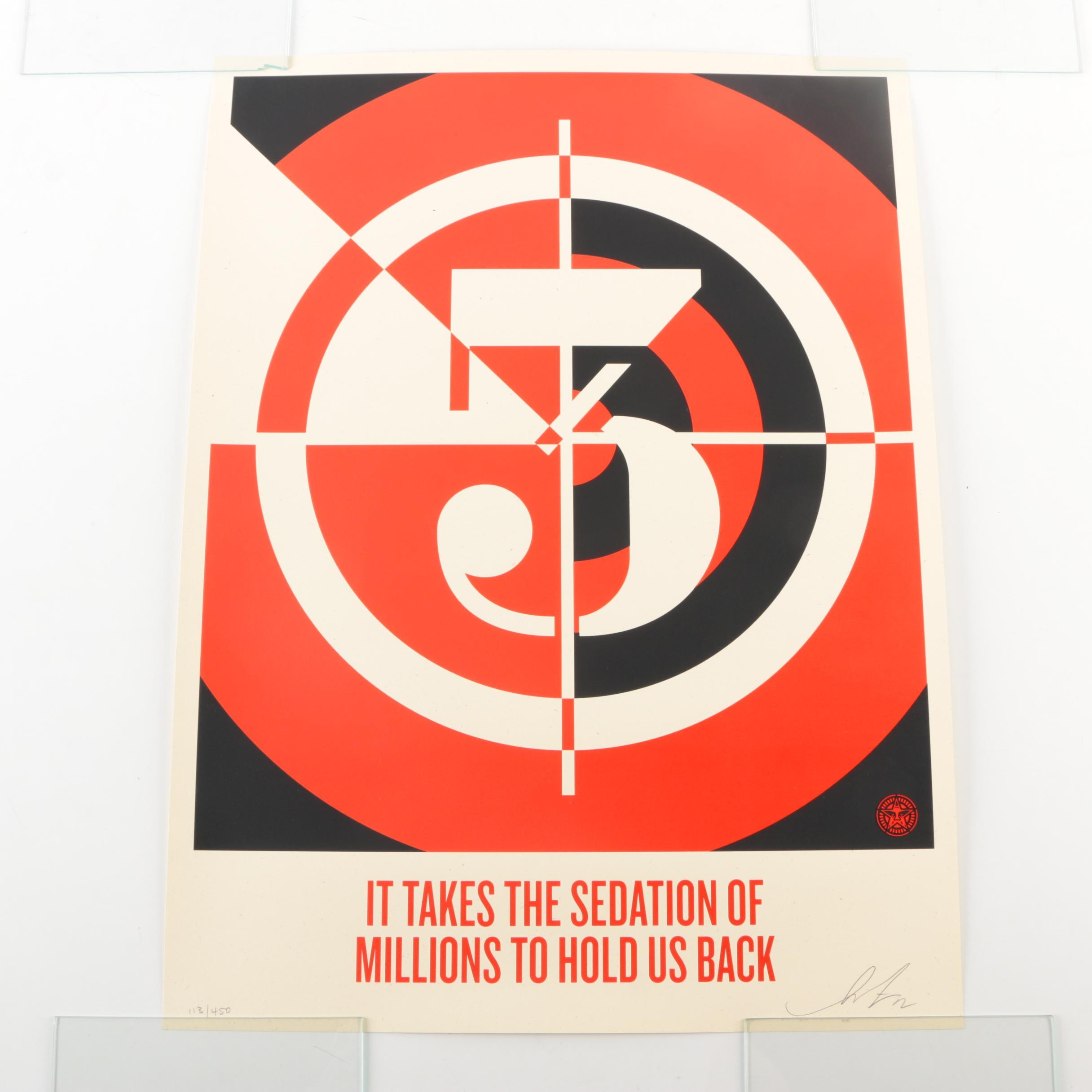 "Shepard Fairey Limited Edition Serigraph on Paper ""Sedation of Millions"""