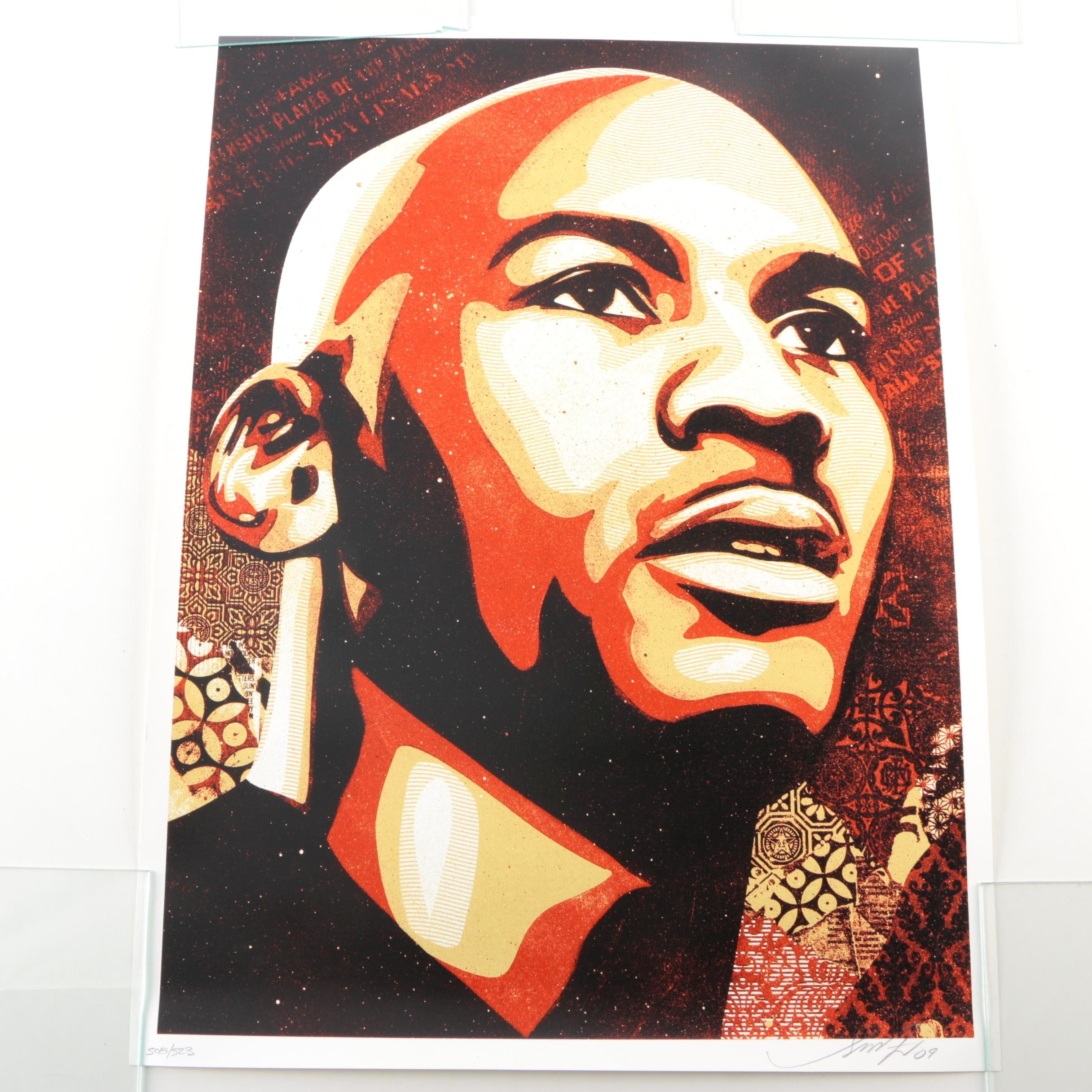 "Shepard Fairey Limited Edition Serigraph on Paper ""Michael Jordan"""