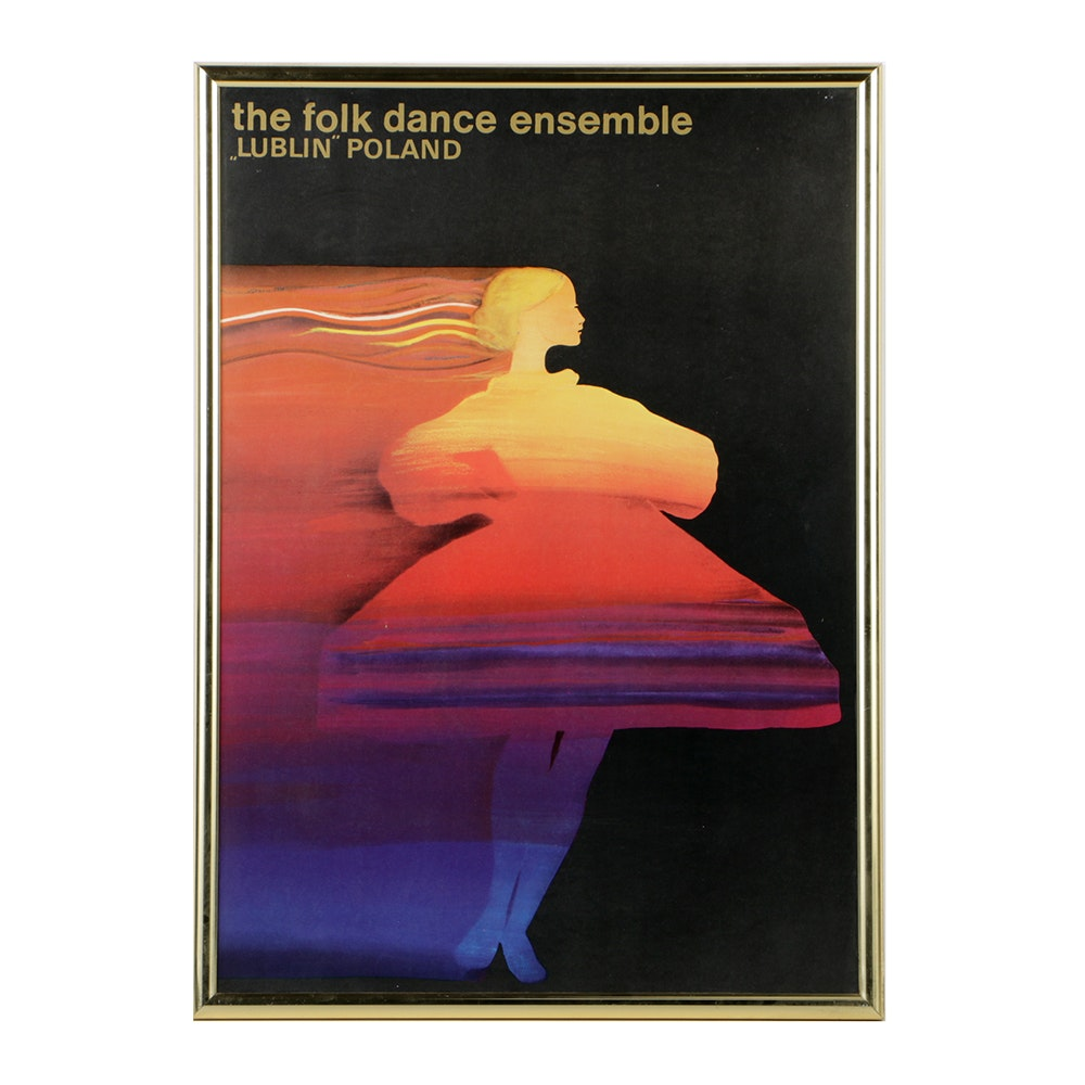 "Half-Tone Poster Print on Paper for ""The Folk Dance Ensemble"""
