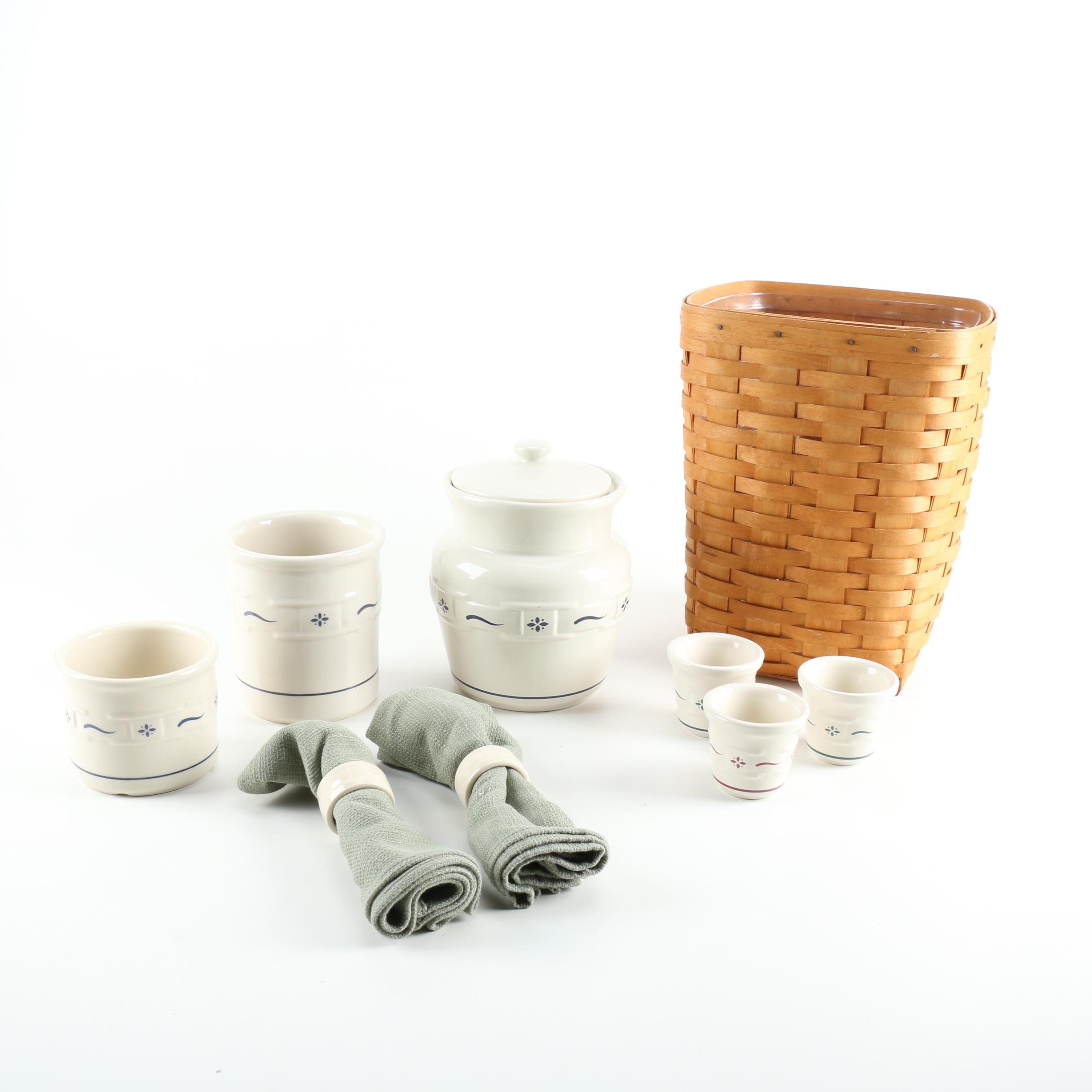 Longaberger Basket, Pottery and Accessories