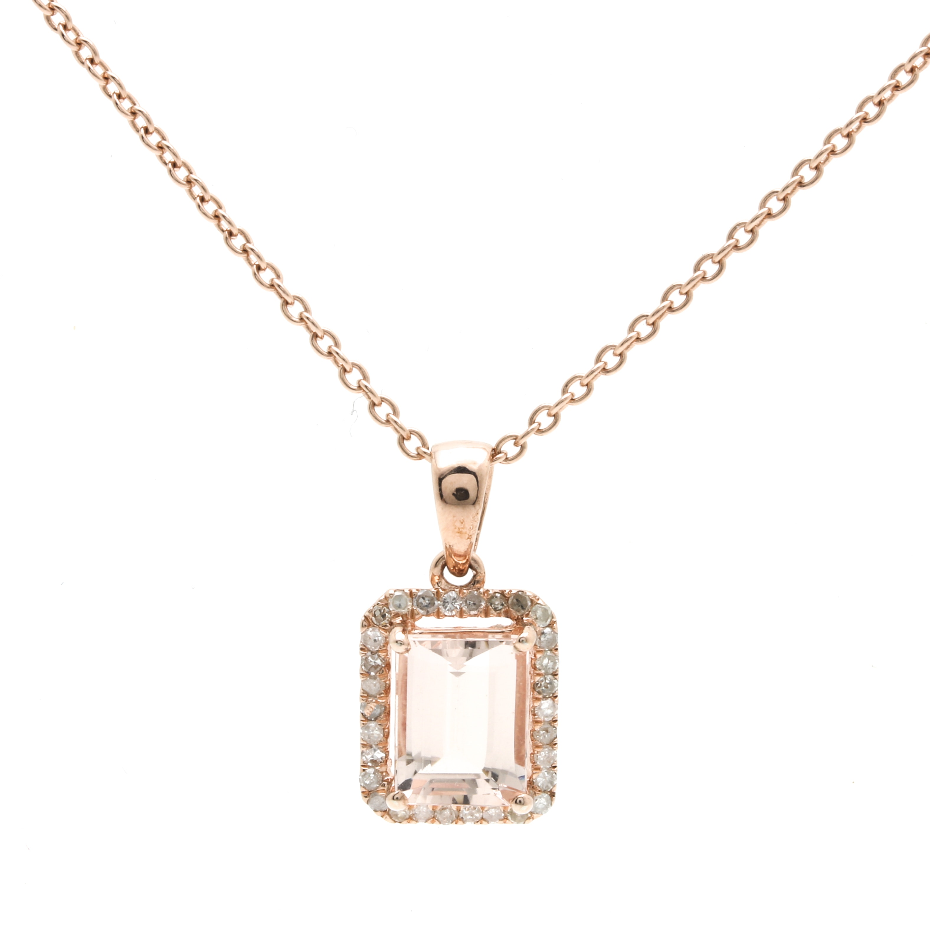 sterling silver morganite and pendant necklace ebth