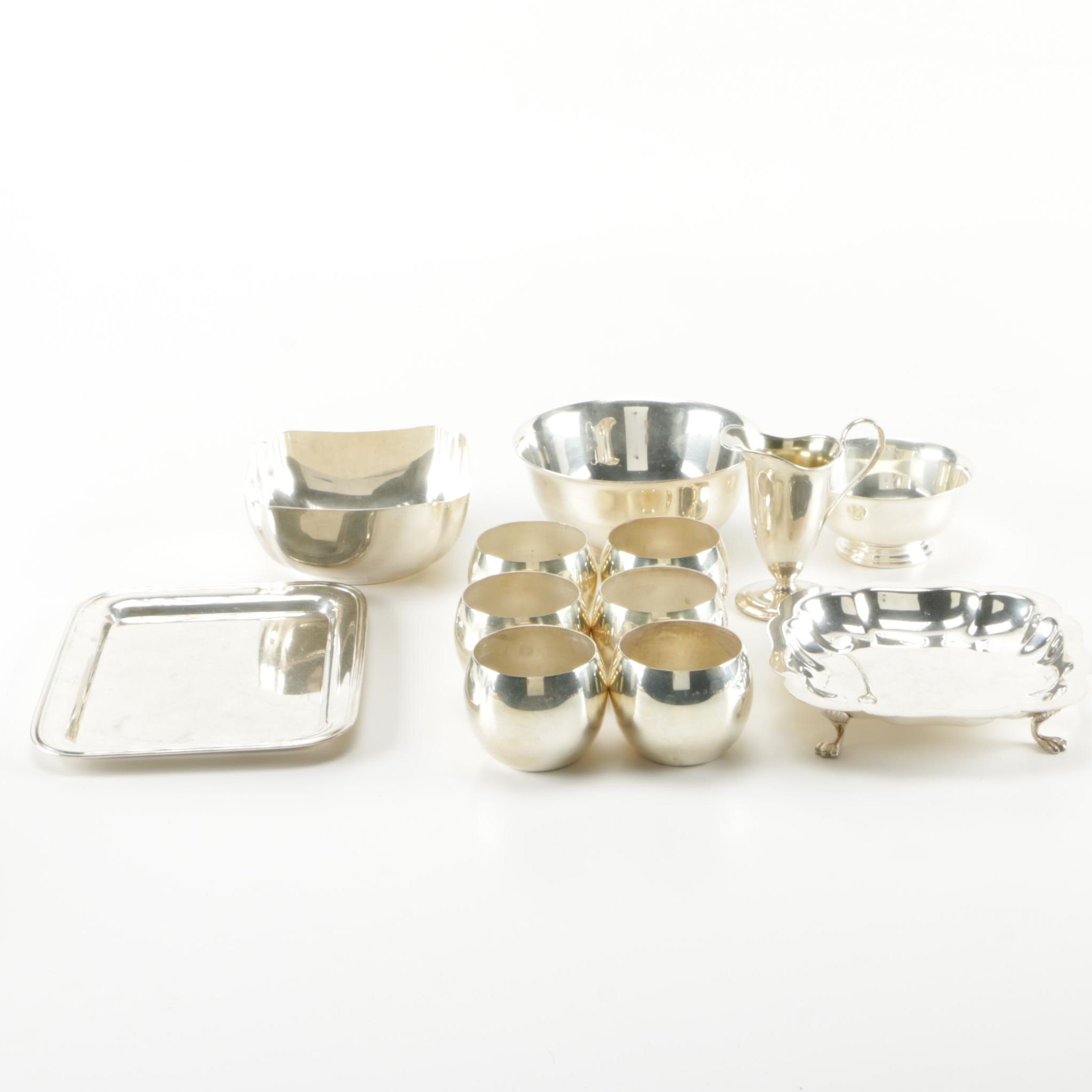 Generous Assortment of Silver Plate Tableware