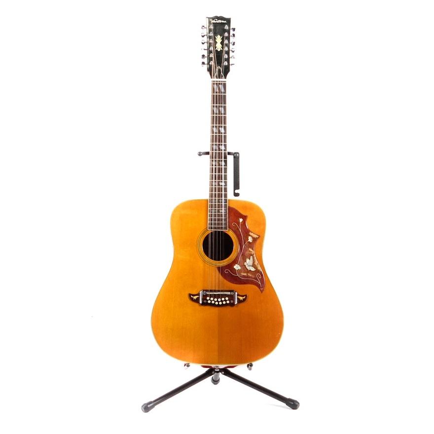 Vintage Ventura V 24 12 String Acoustic Guitar With Case Ebth