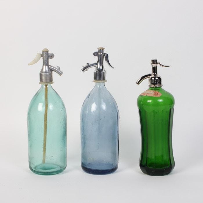 Collection of Vintage Seltzer Bottles
