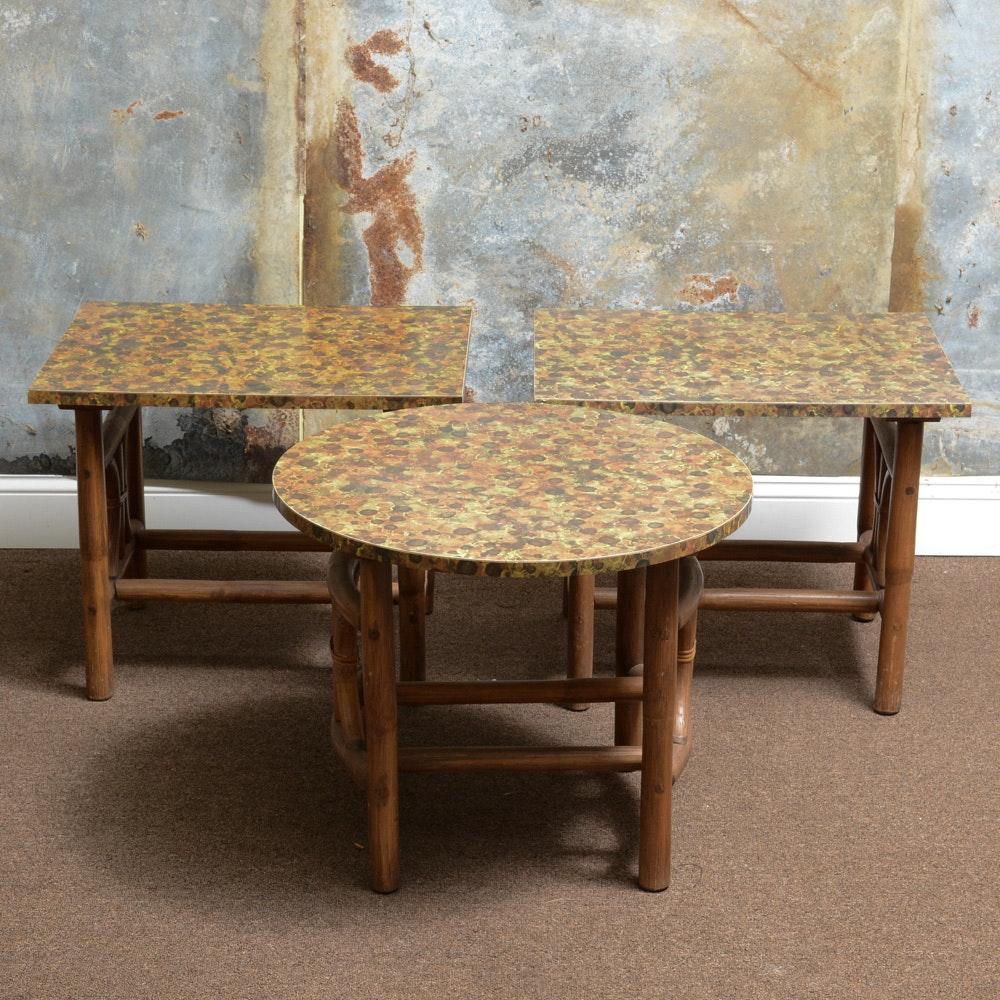 Three Mid-Century Side Tables