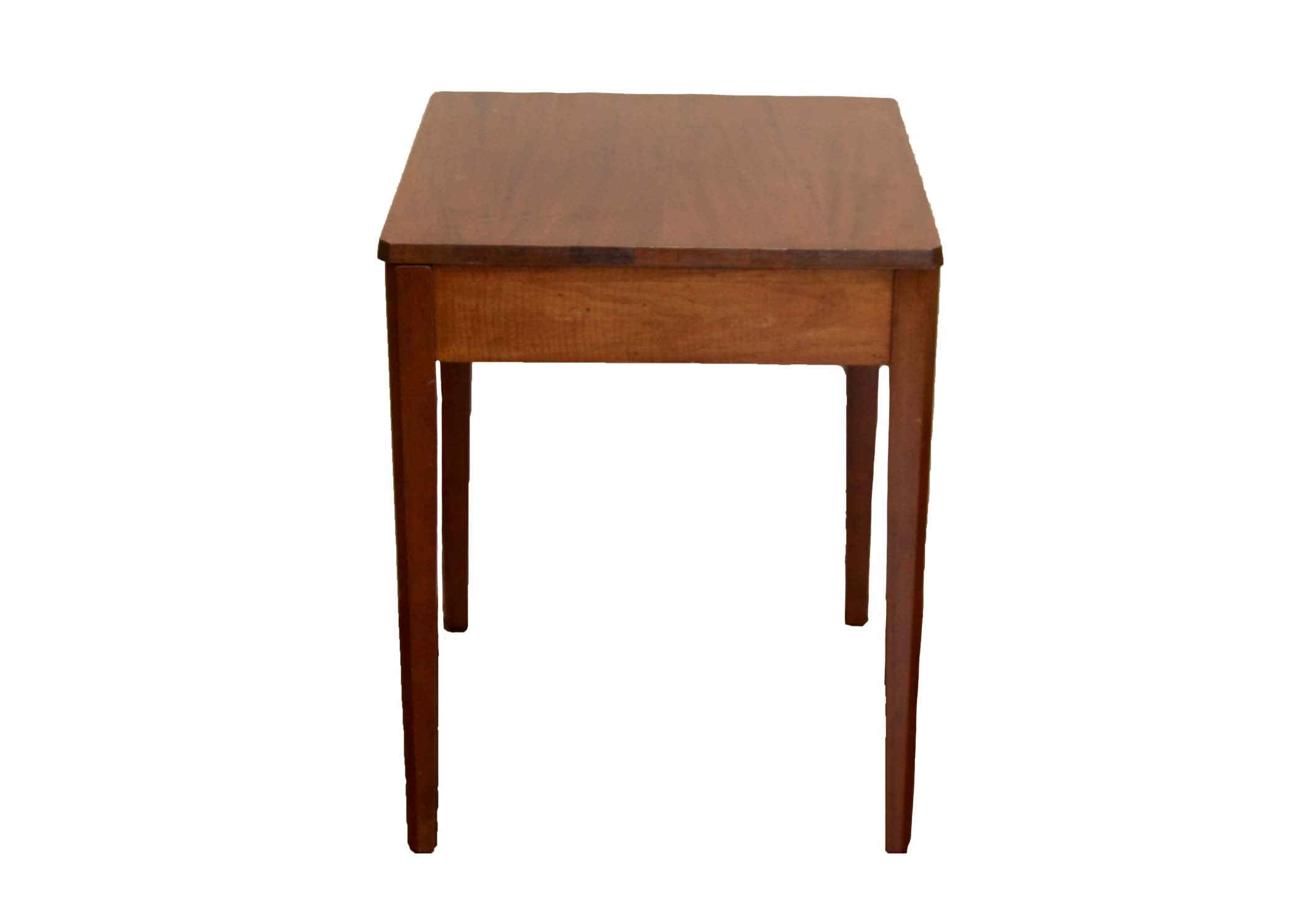 Vintage Wooden Swivel Top Television Table