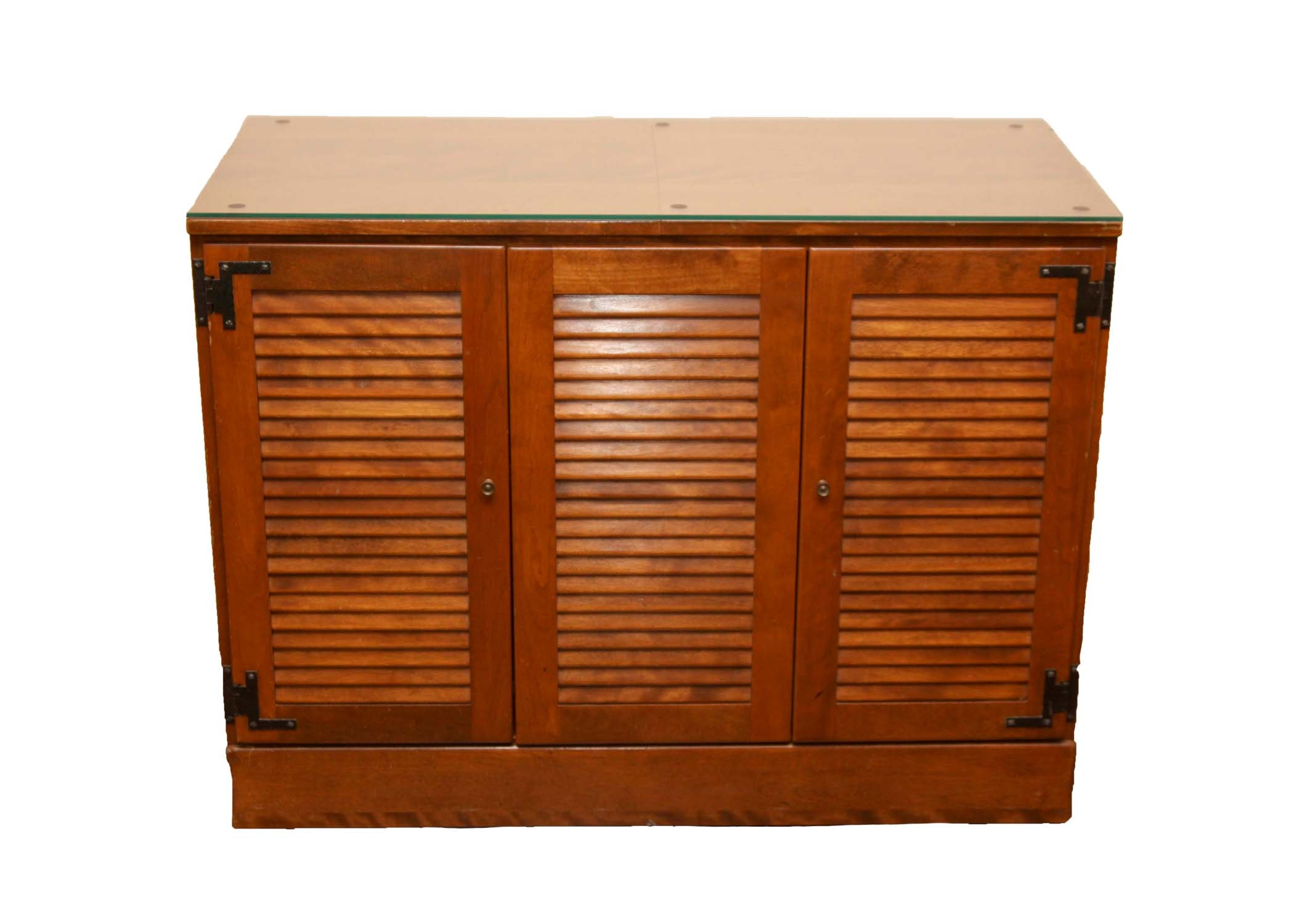 Ethan Allen Modern Mid Century Stereo Cabinet