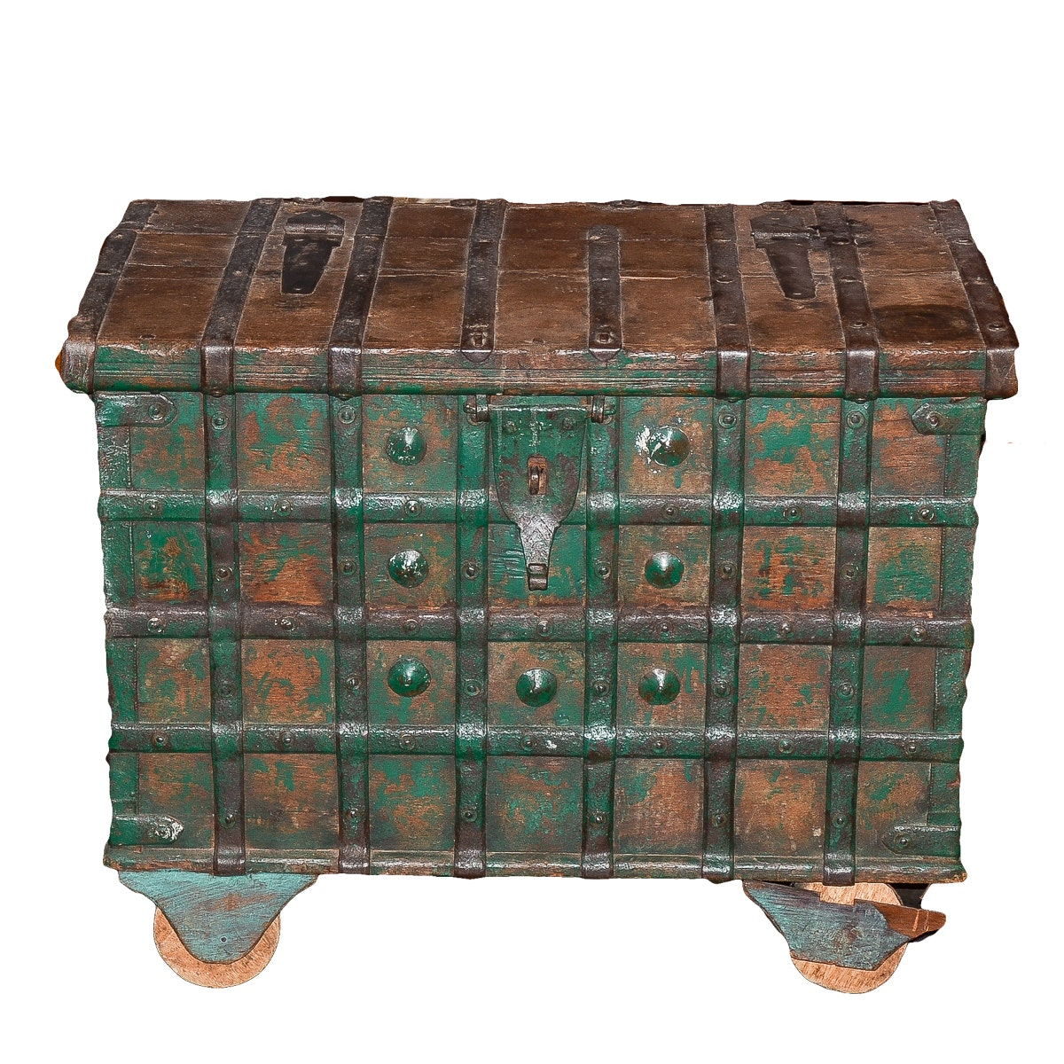 Vintage Asian Style Rolling Strongbox