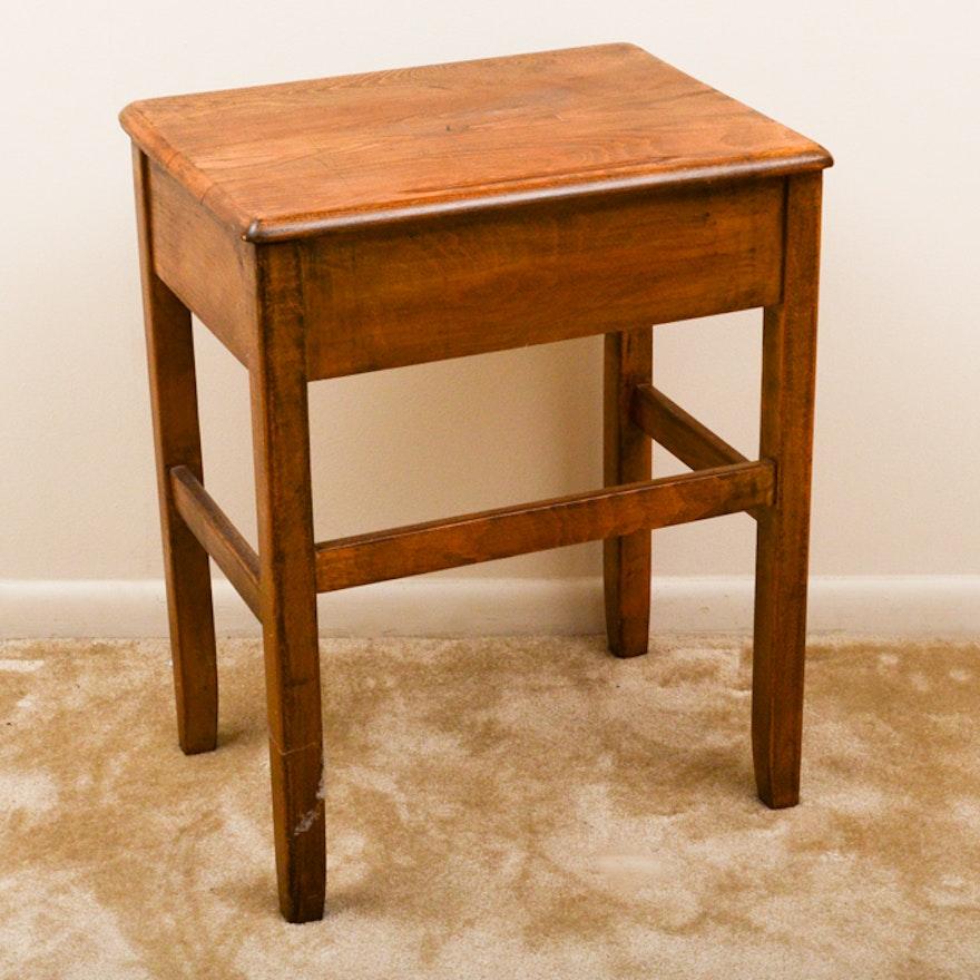 Vintage Oak School Desk ... - Vintage Oak School Desk : EBTH