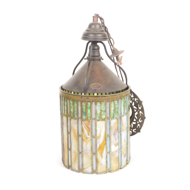 I.P Frink Stained Glass Ceiling Light